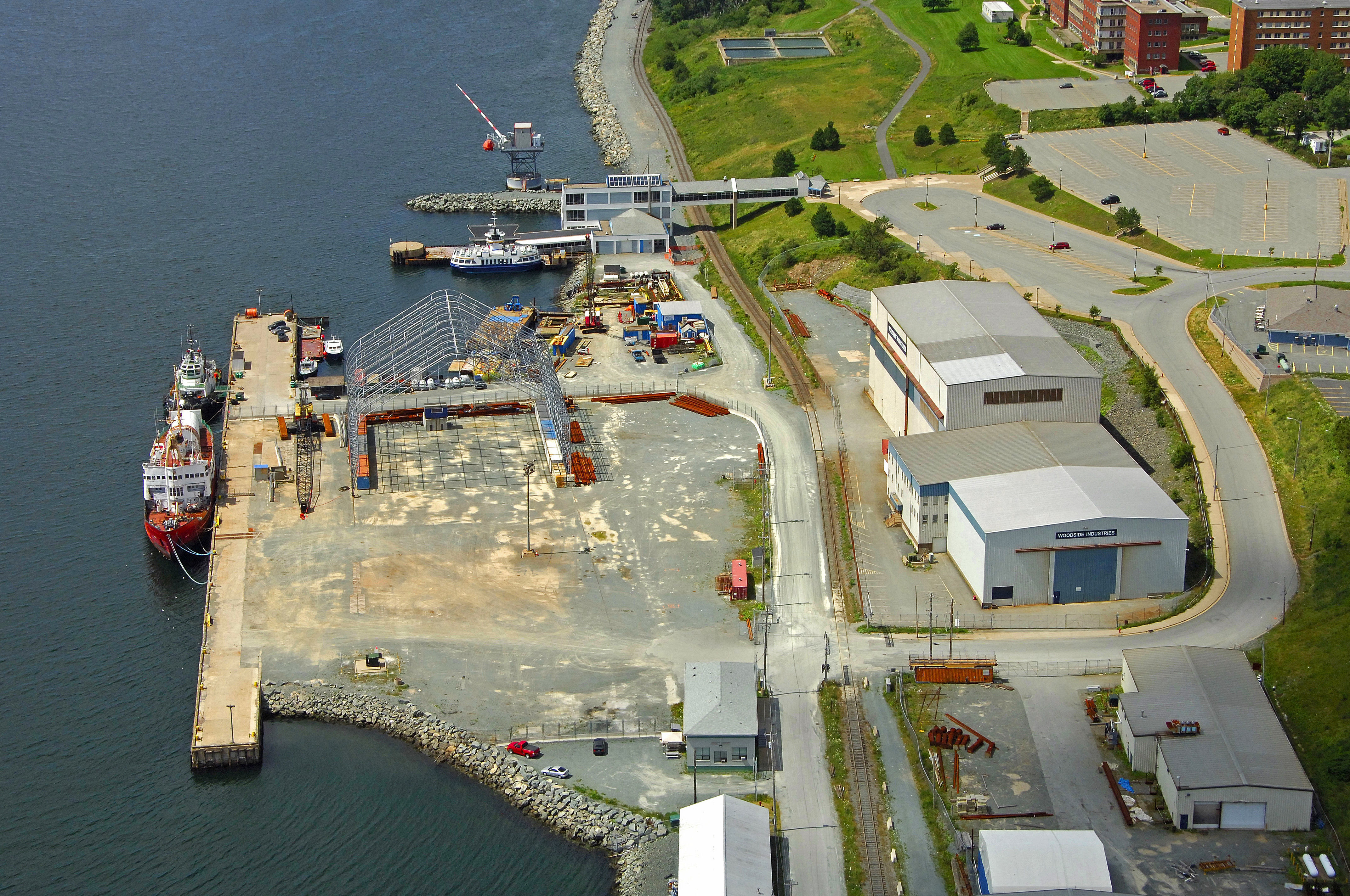 Woodside Atlantic Wharf Harbour in Halifax, NS, Canada