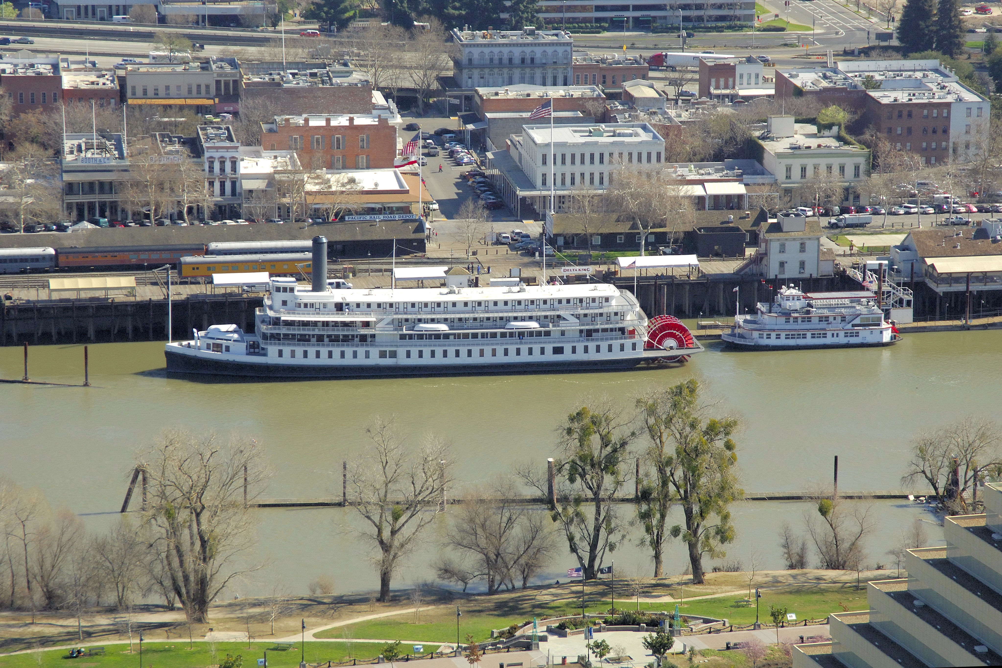 Riverboat Delta King Ferry in Old Sacramento, CA, United
