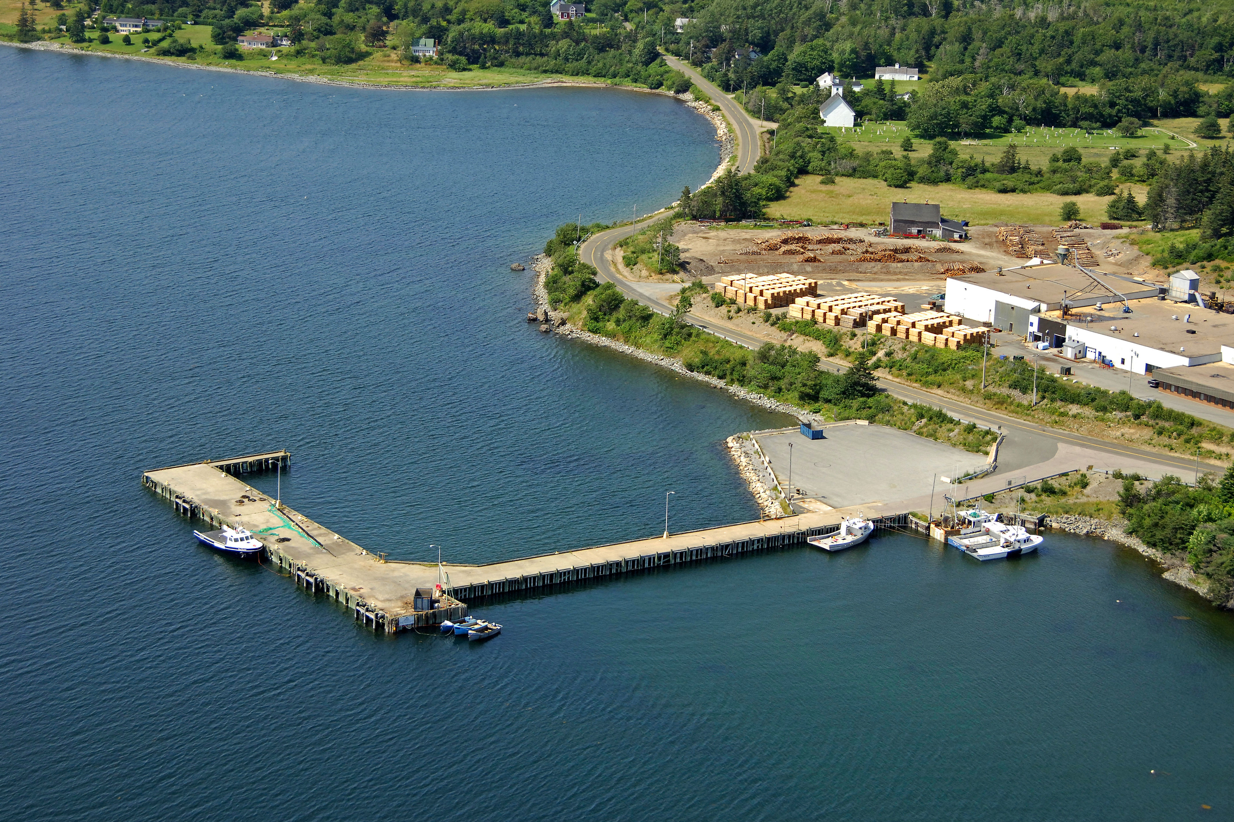 weymouth north wharf harbour in clare  ns  canada