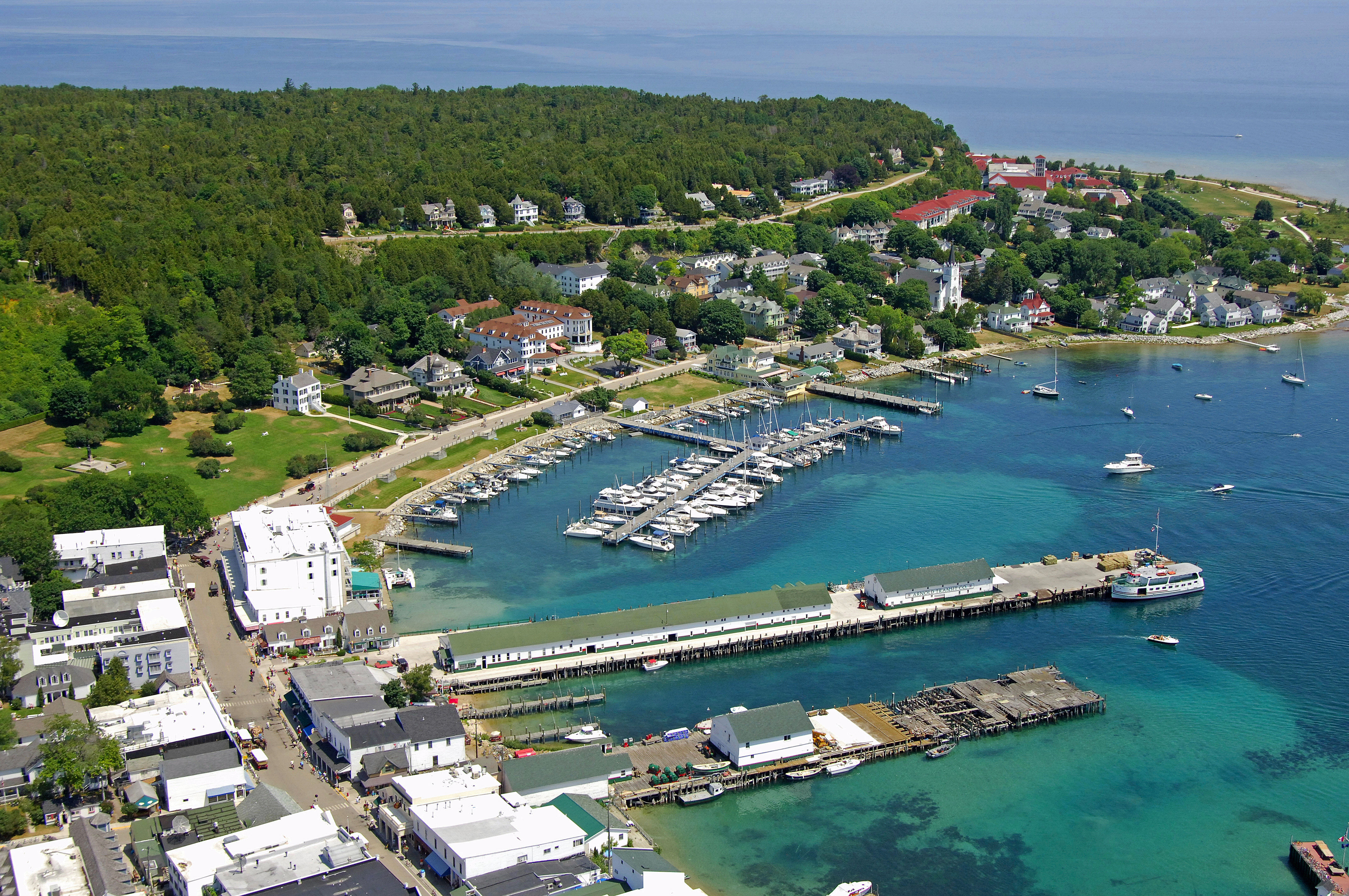 Mackinac Island State Dock In Mackinac Island Mi United