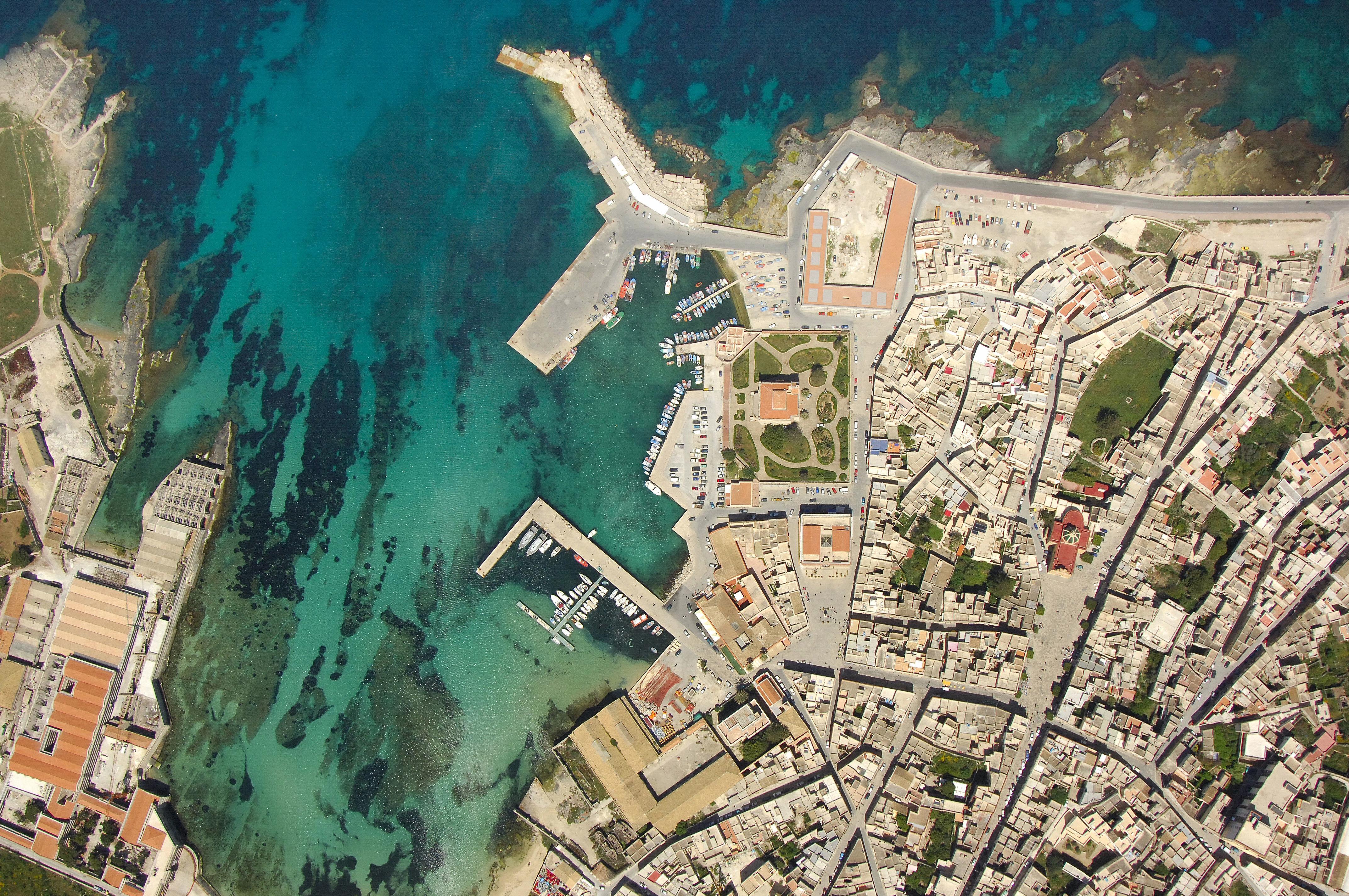 Favignana Yacht Club in Favignana Egadi Island Sicily Italy