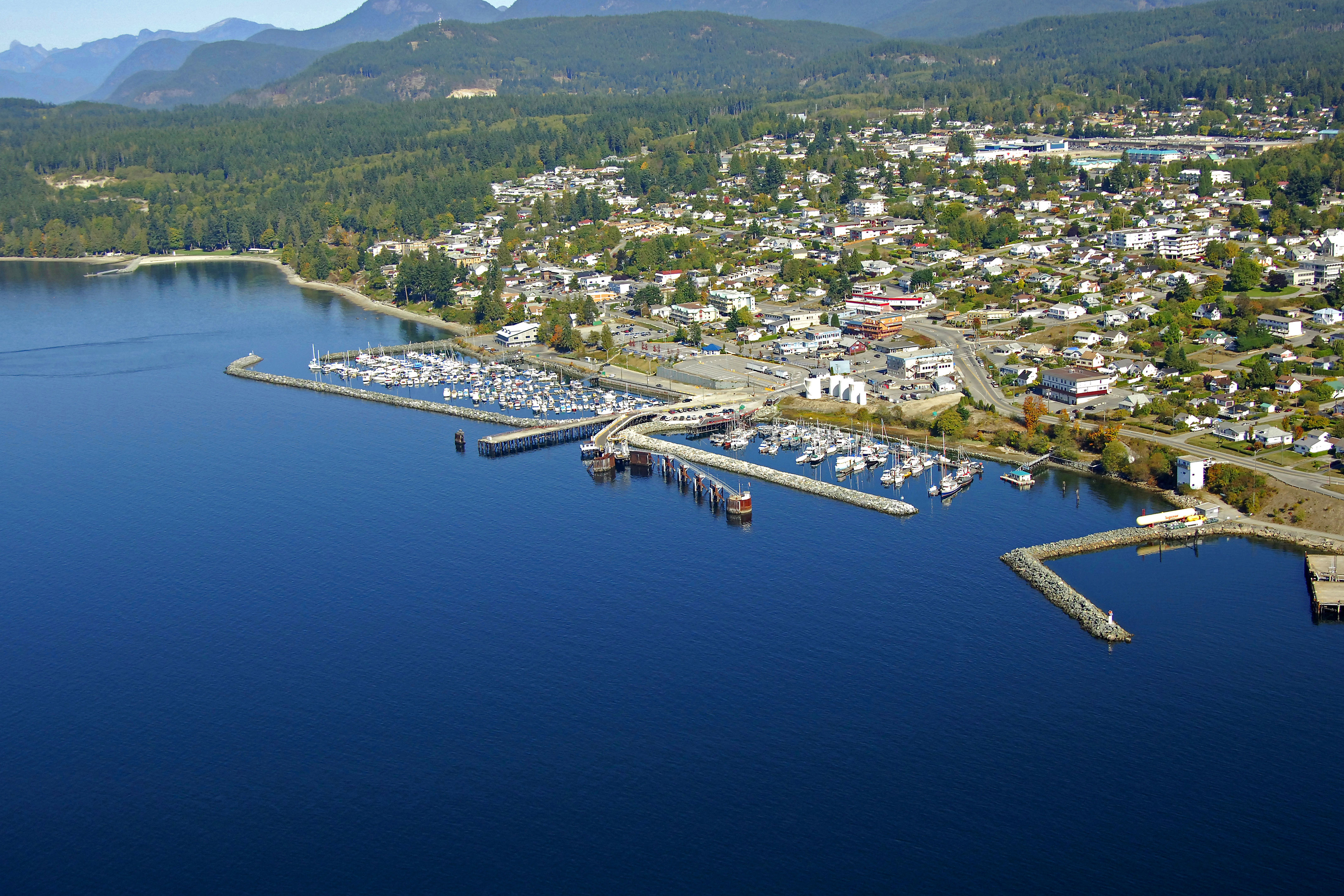 Powell River Westview Harbour In Powell River  Bc  Canada