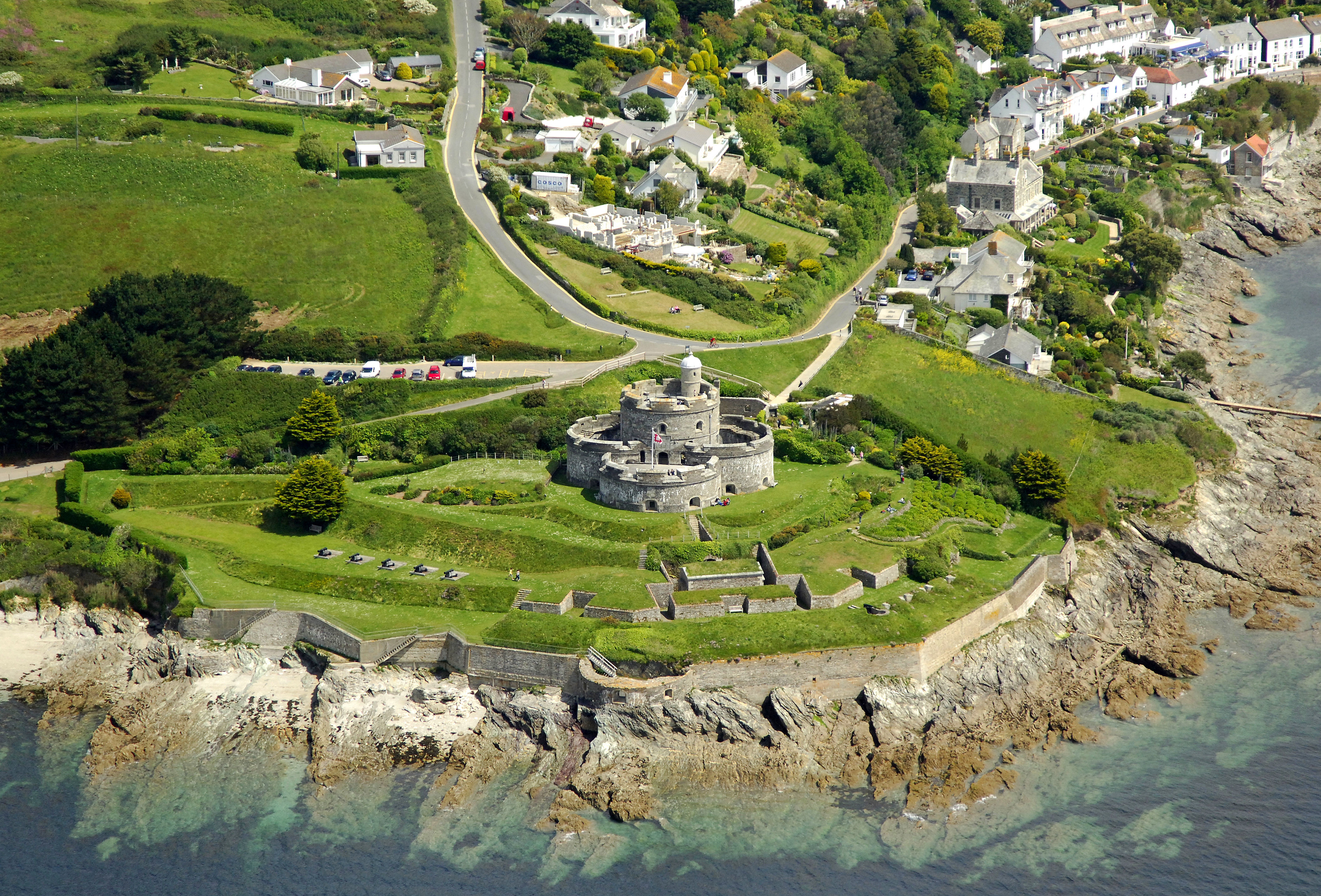 St Mawes Castle Landmark In St Mawes Cornwall Gb United