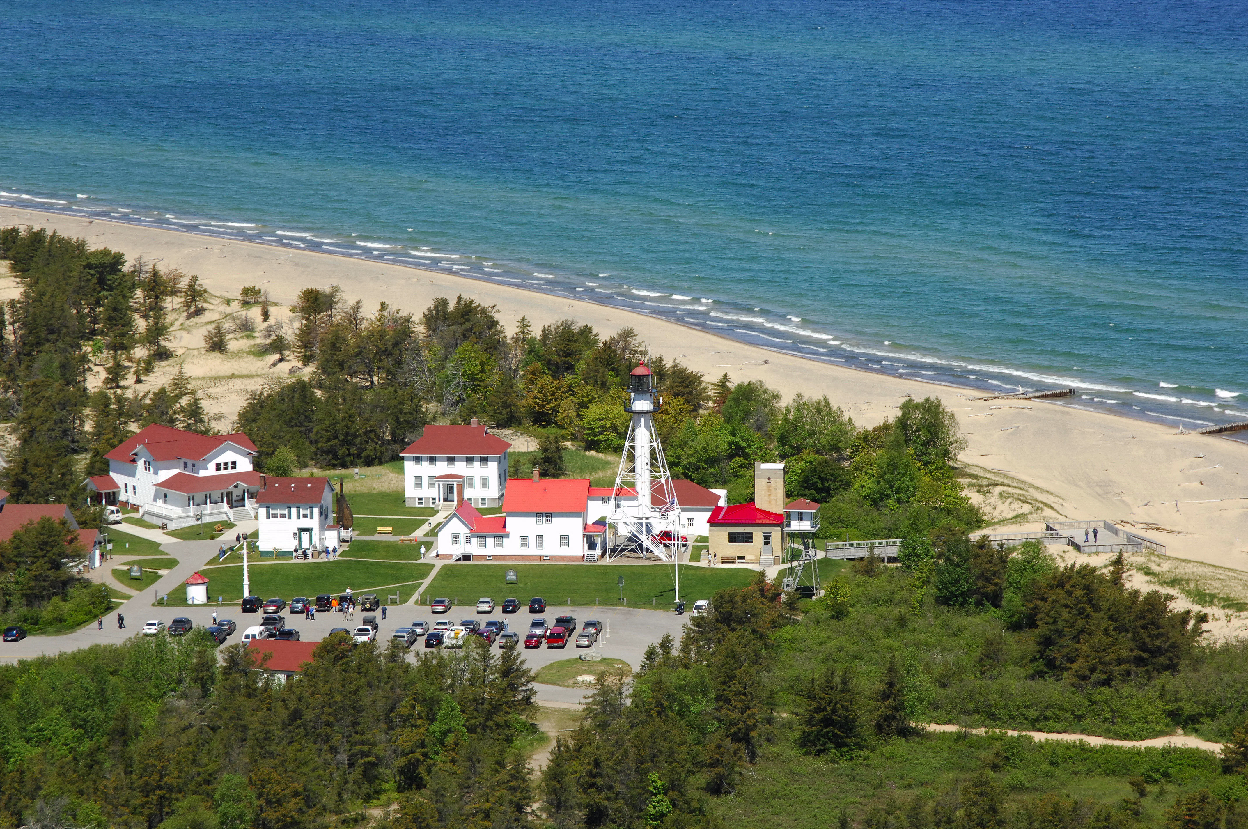 Whitefish point lighthouse in paradise mi united states for White fish point