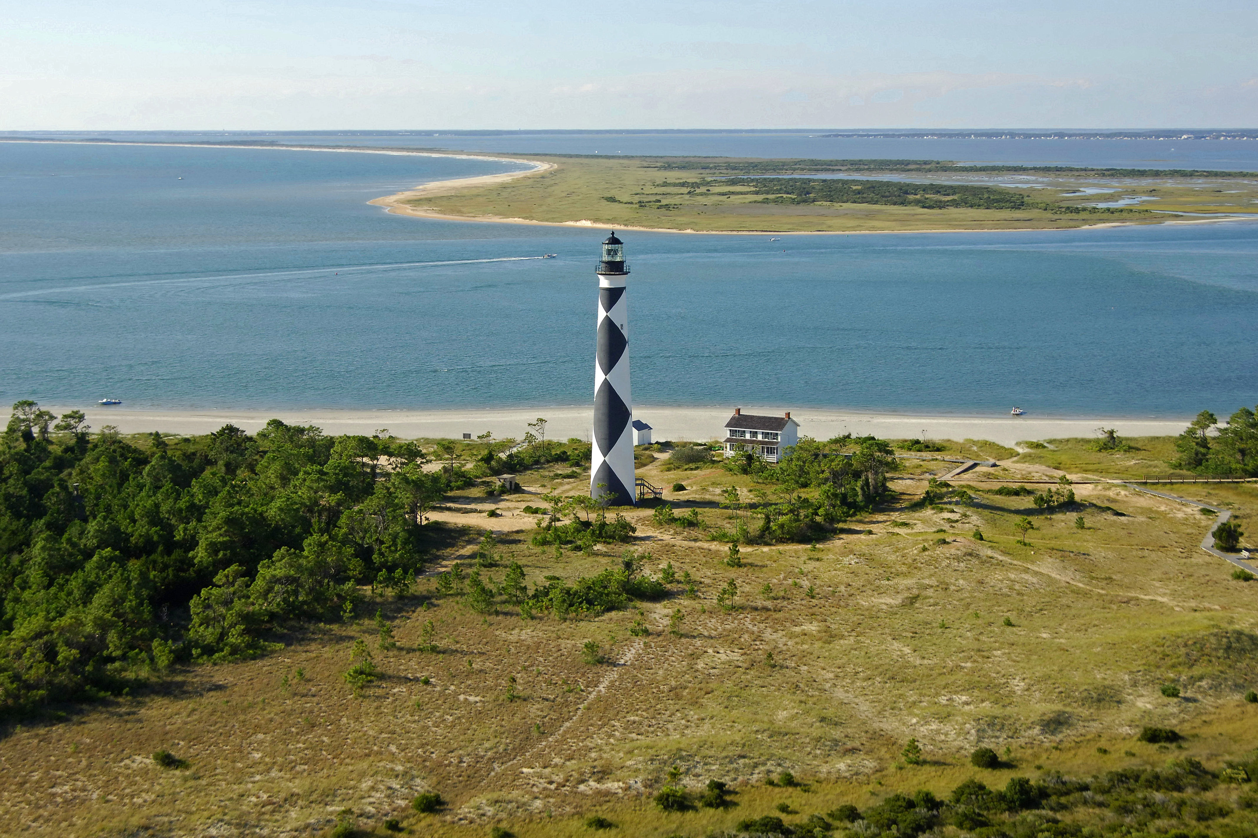 Cape Lookout Lighthouse in Harkers Island, NC, United States ... on cape lookout lighthouse, cape lookout at night, cape lookout ferry harkers island, cape lookout beach camping,