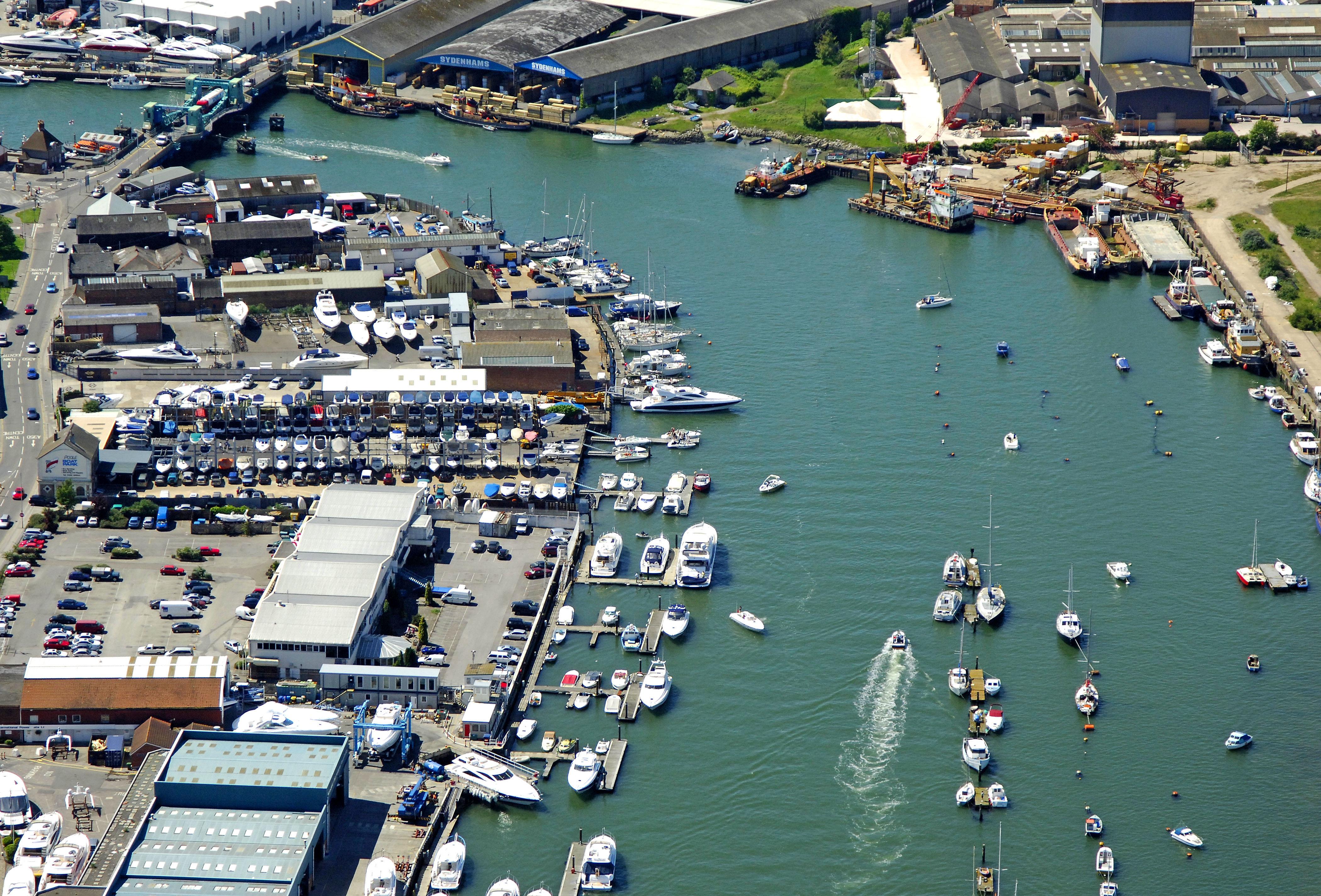 Poole Boat Park in Poole, Dorset, GB, United Kingdom