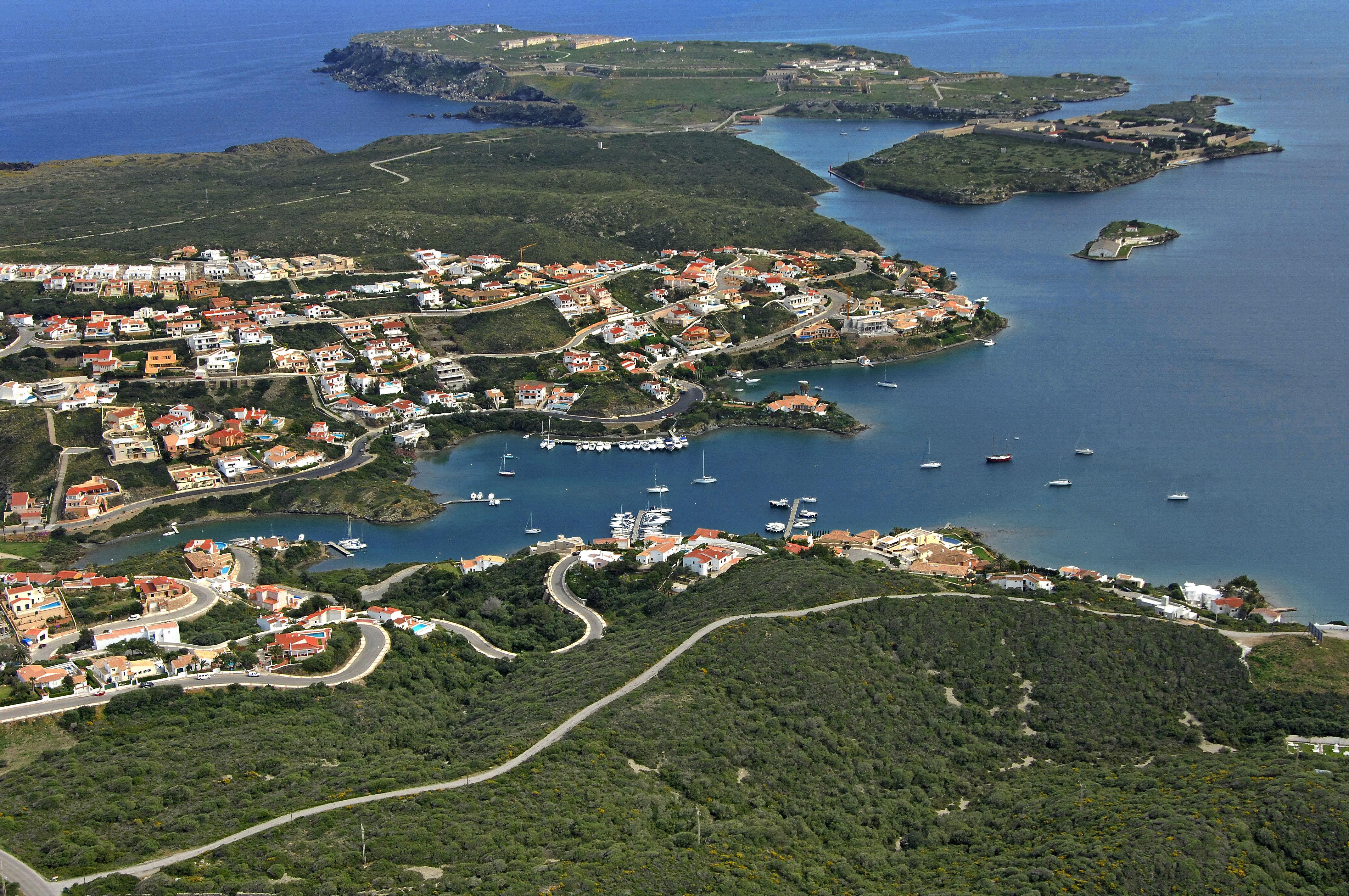 Cala Llonga Marina in Cala llonga, Menorca, Spain - Marina
