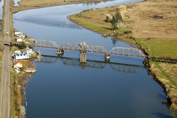 Siuslaw River Union Pacific RailRoad Swing Bridge