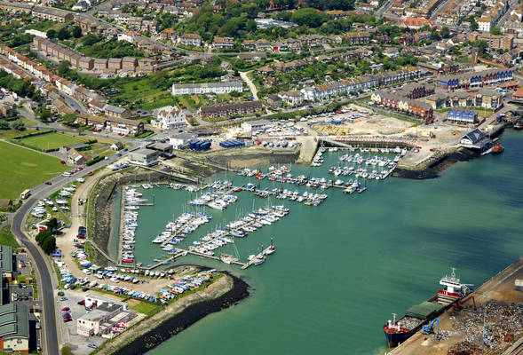 Newhaven Marina In Newhaven  East Sussex  Gb  United