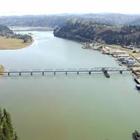Umpqua River Union Pacific RailRoad Swing Bridge