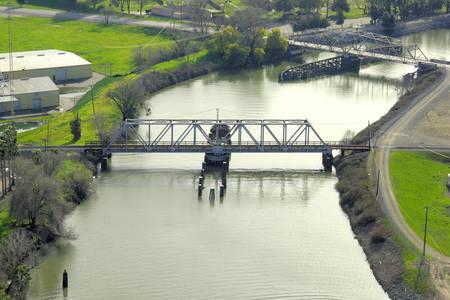 Port of Stockton Railroad Swing Bridge