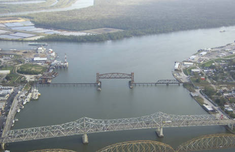 Morgan City Southern Pacific Railroad Lift Bridge