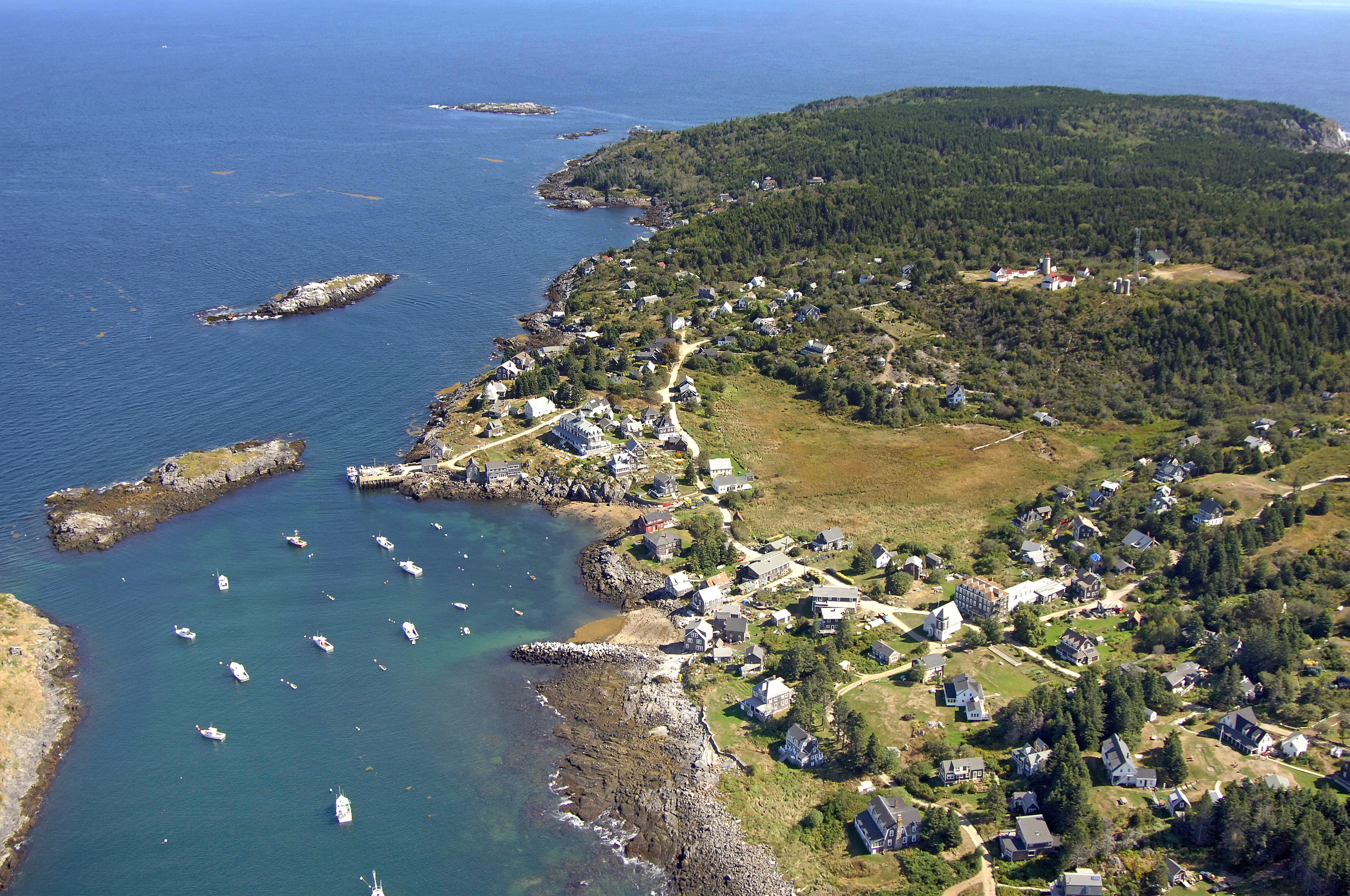 Map Of Monhegan Island Maine