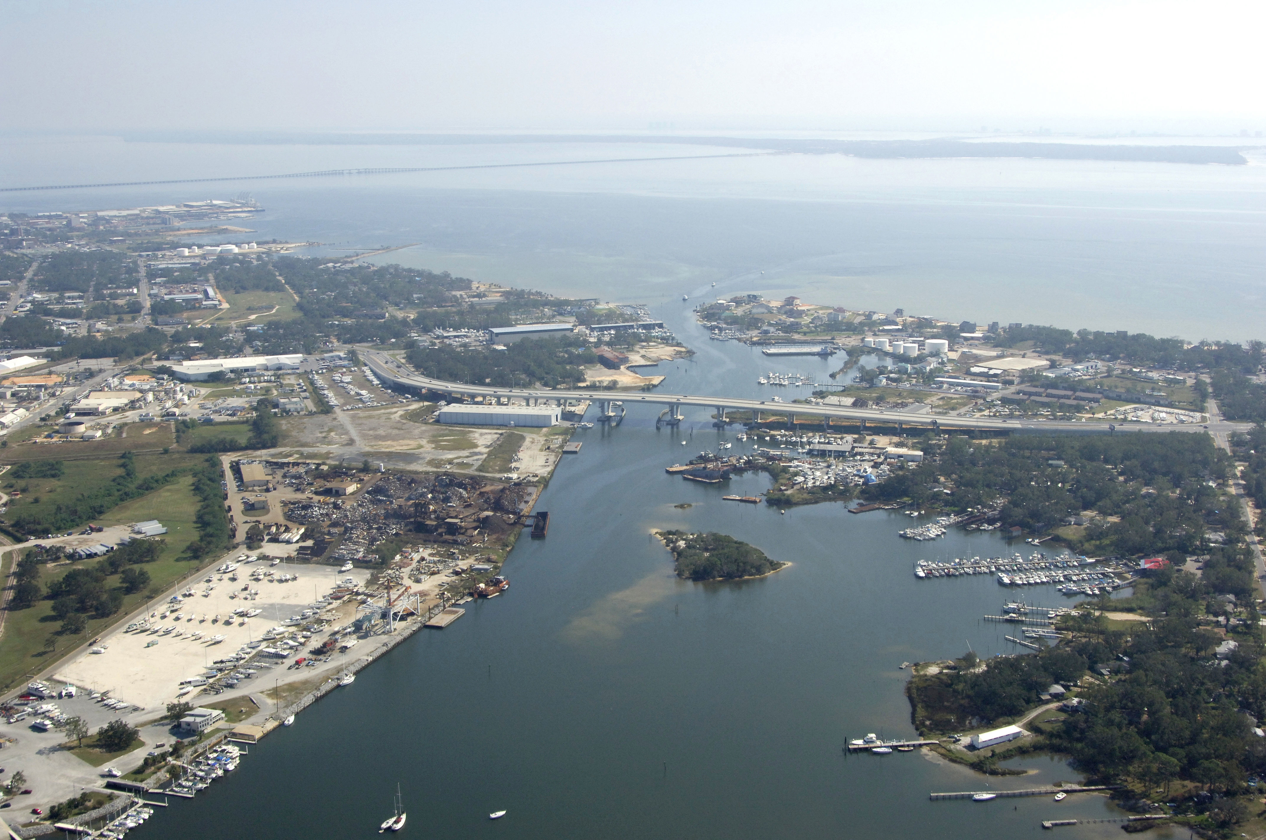 Pensacola Harbor in Pensacola, FL, United States - harbor ...