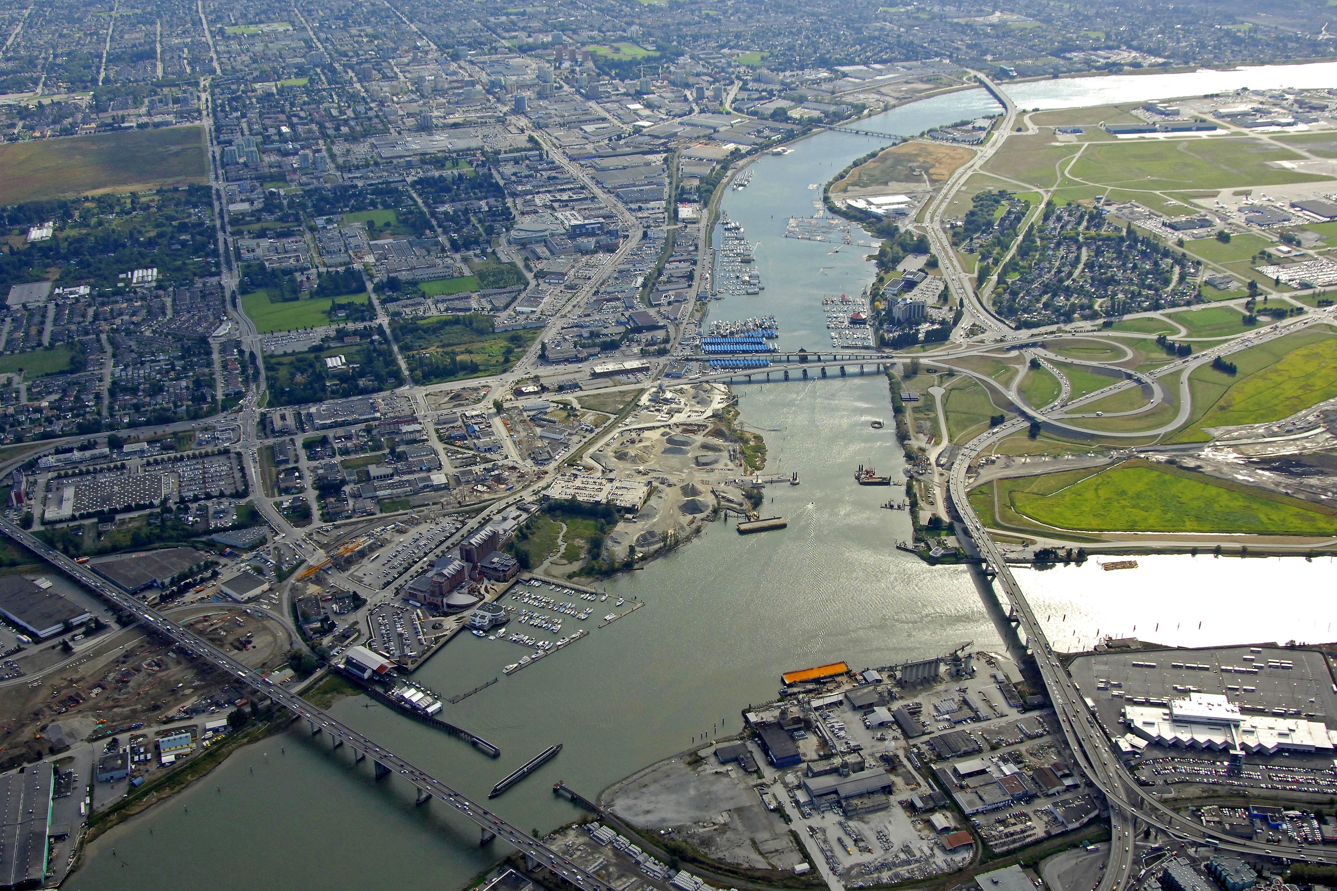 Richmond Harbor In Richmond  Bc  Canada