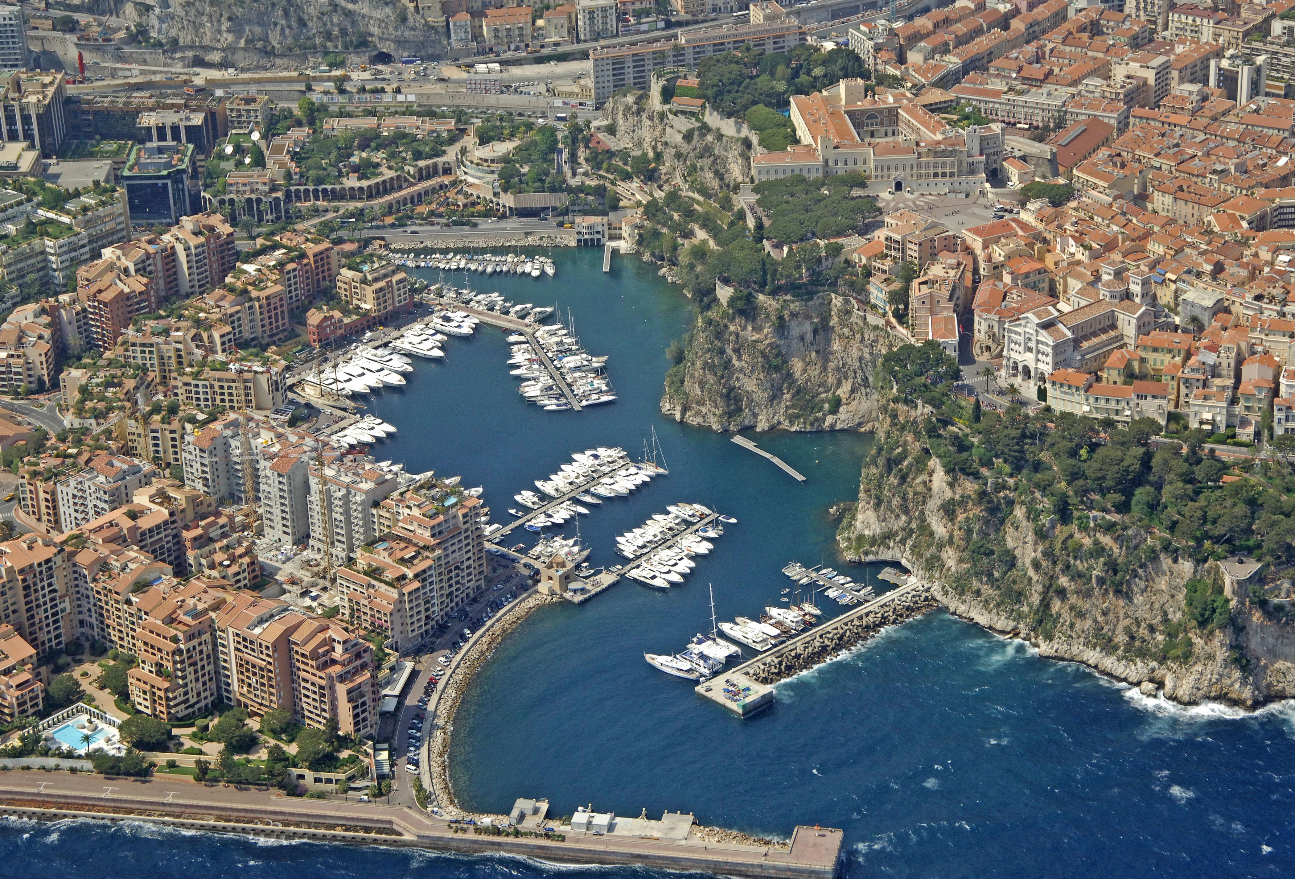 Monaco Port De Fontvieille Marina in Cap D'Ail, Provence-Alpes-Cote D'Azur, France - Marina ...