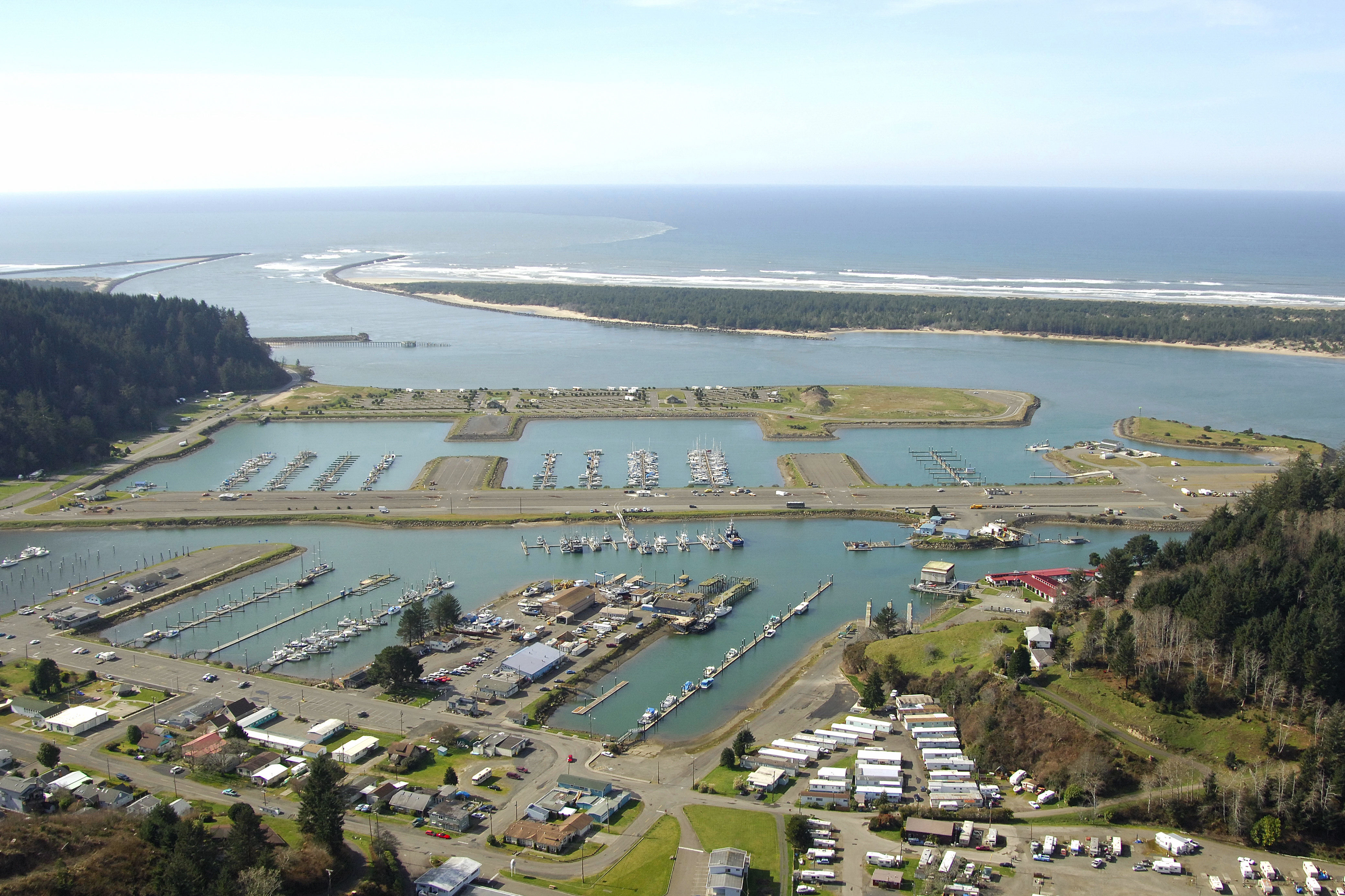 Salmon Harbor Marina In Winchester Bay Or United States
