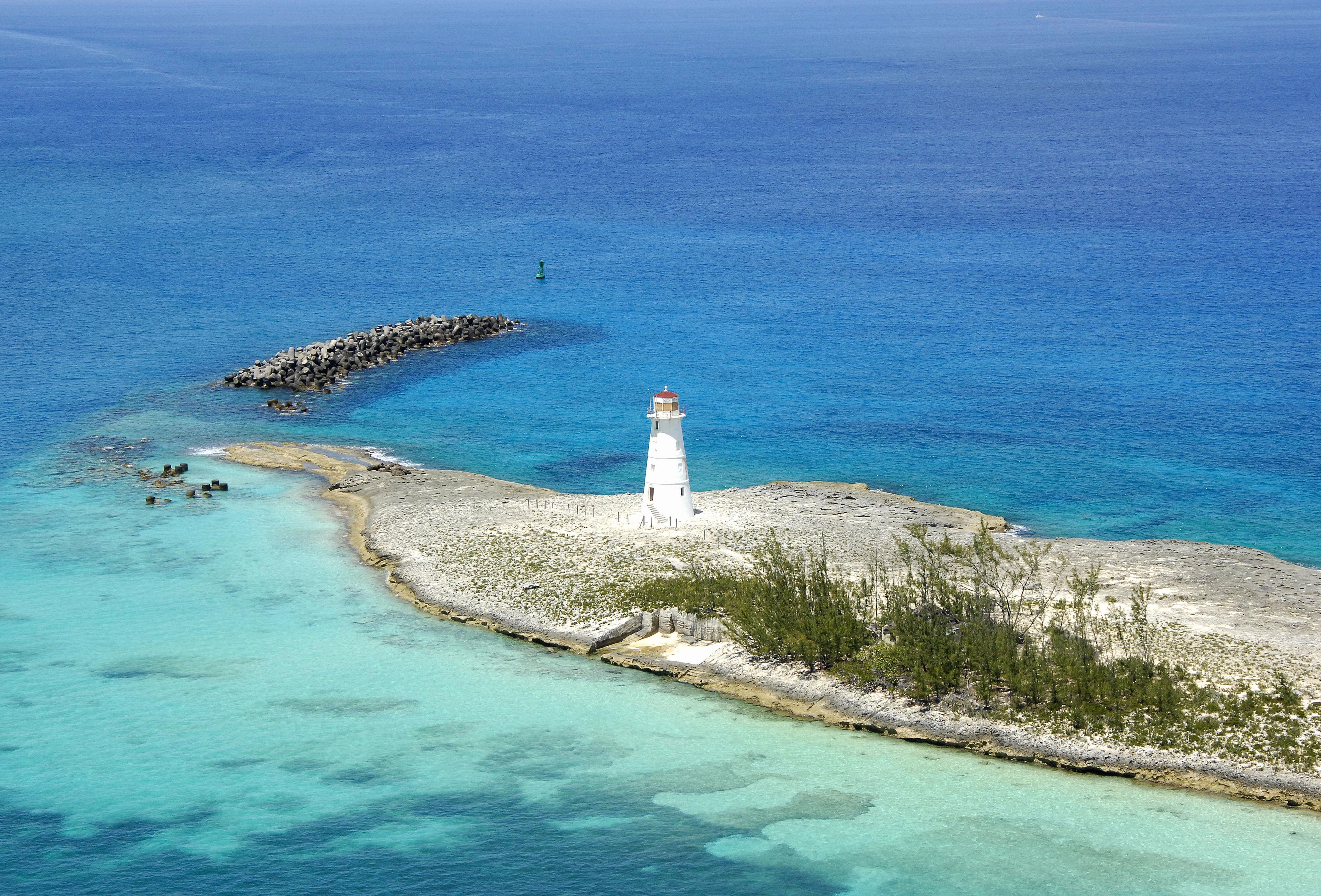 Nassau Harbour Lighthouse in Paradise Island, NP, Bahamas ...