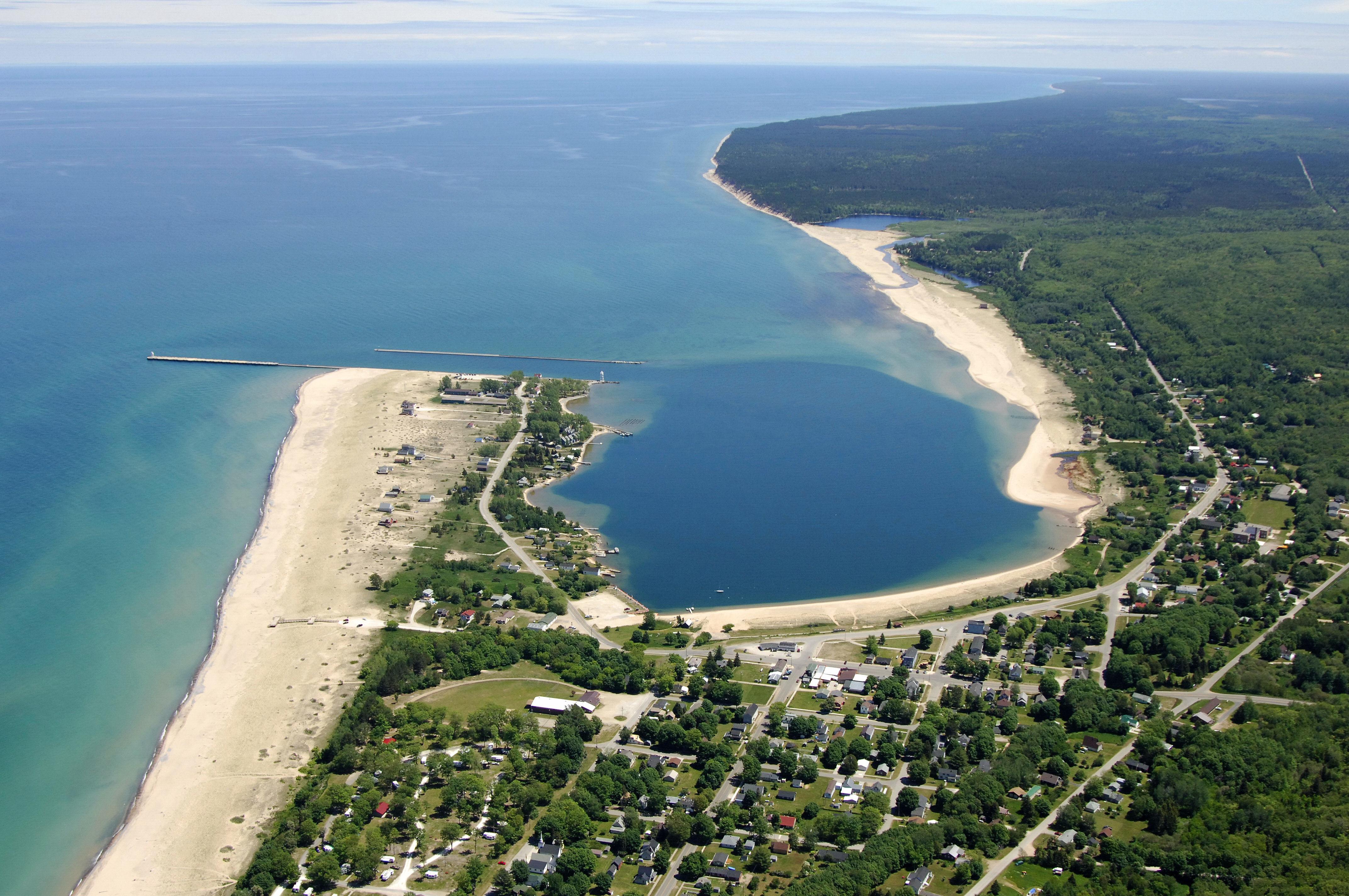 Grand Marais Harbor In Grand Marais Mi United States