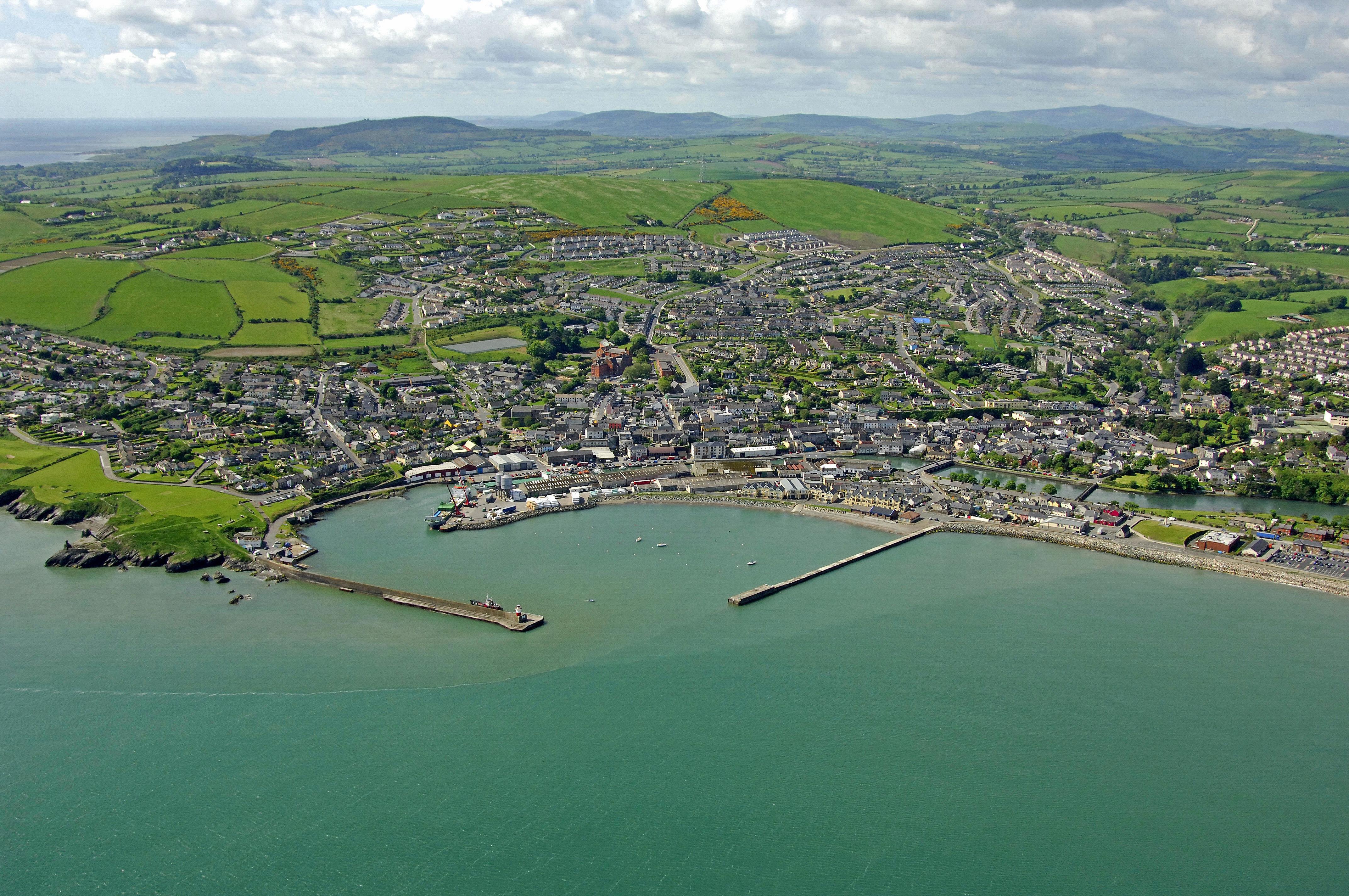 Wicklow Harbor in Wicklow, County Wicklow, East Coast, Ireland ...