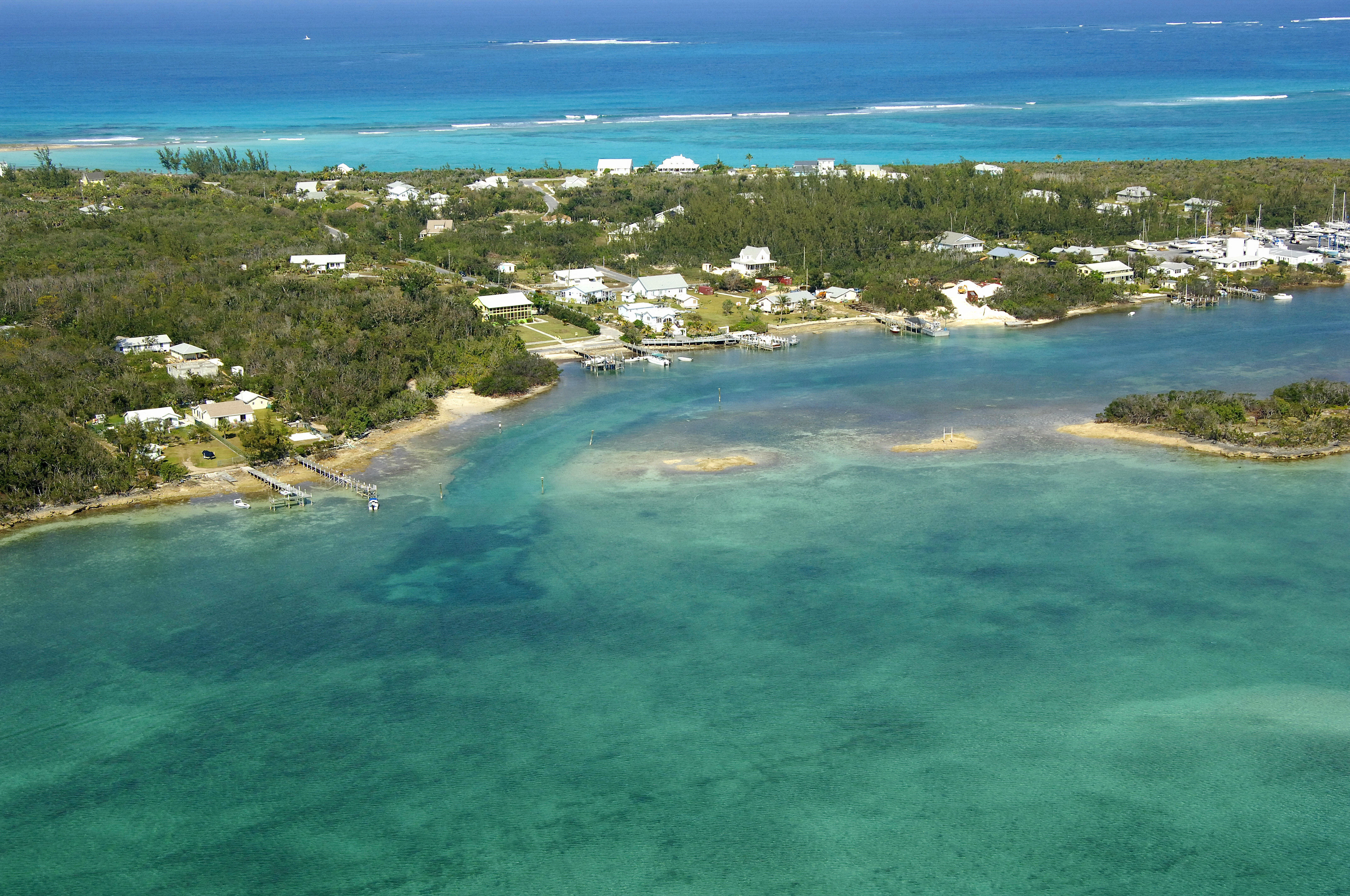 Black Sound Inlet In Green Turtle Cay Ab Bahamas Inlet