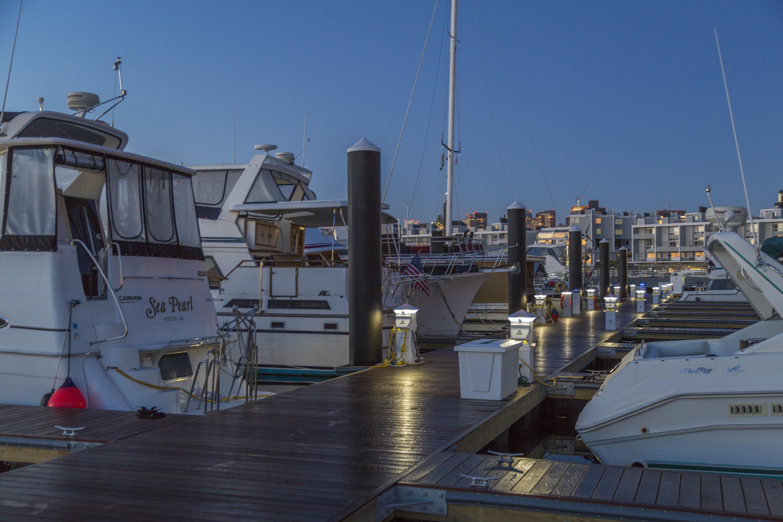 Charlestown Marina, Boston Harbor in Charlestown, MA, United States