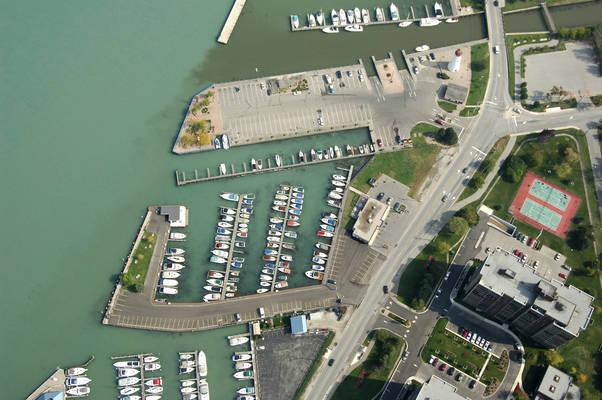 Riverside Marina in Windsor, Ontario Canada