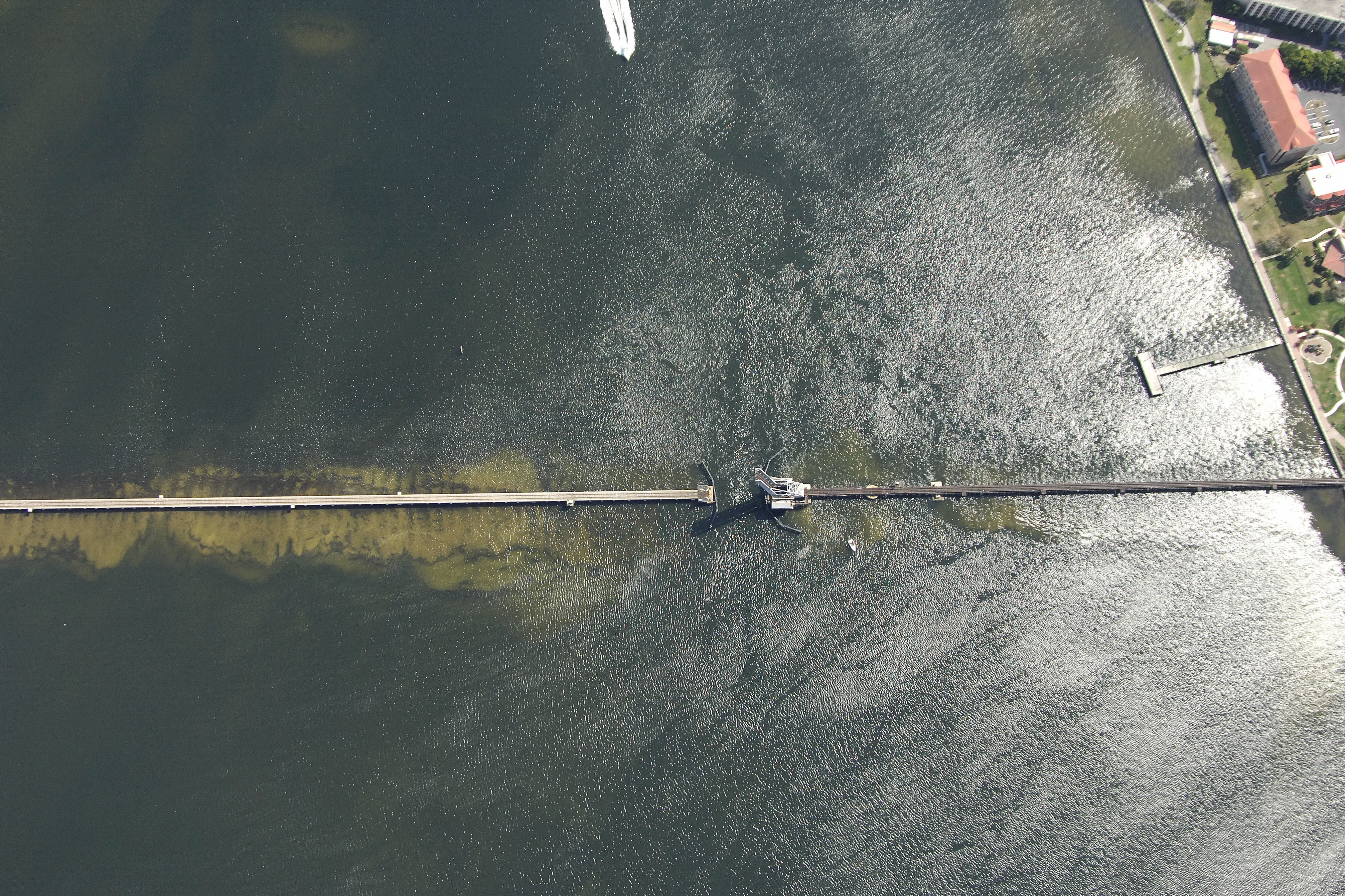 Manatee River Railroad Bascule Bridge In Bradenton Fl United