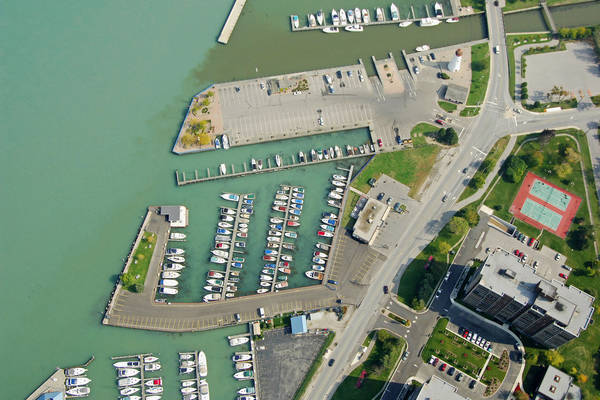 Riverside Marina in Windsor, Ontario Canada