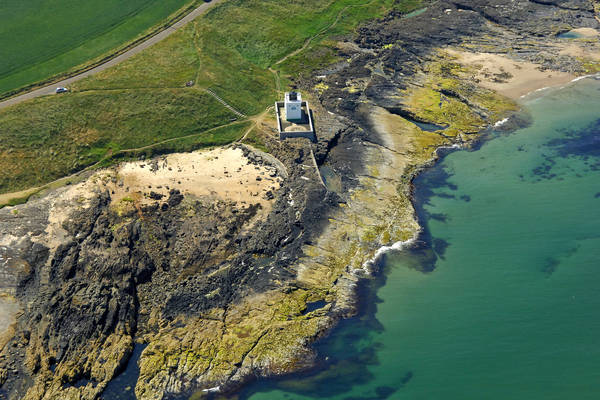 Black Rocks Bamburgh Light