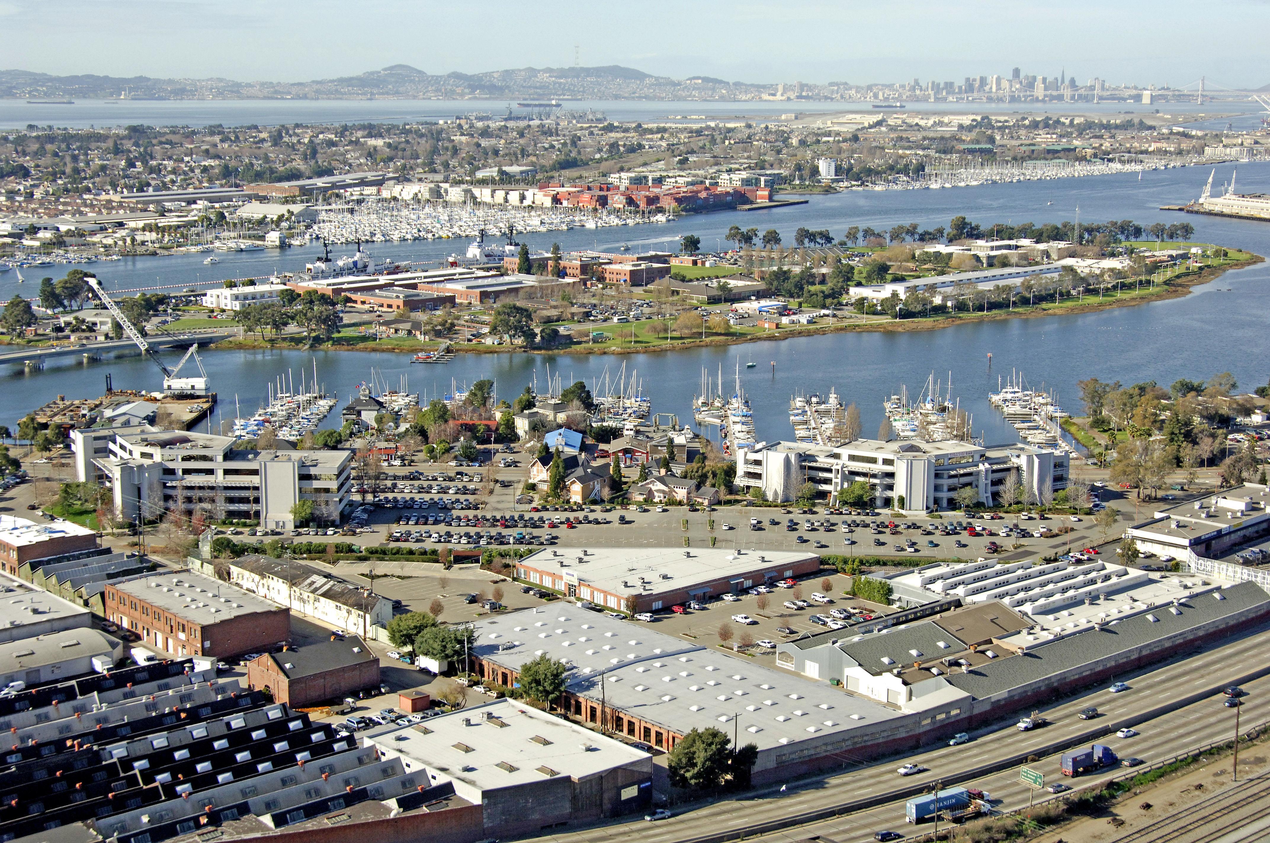 Embarcadero Cove Marina In Oakland Ca United States