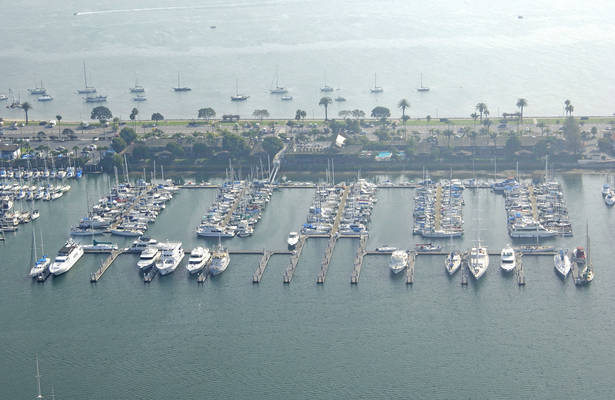 Shelter Island Marina at the Island Palms Hotel