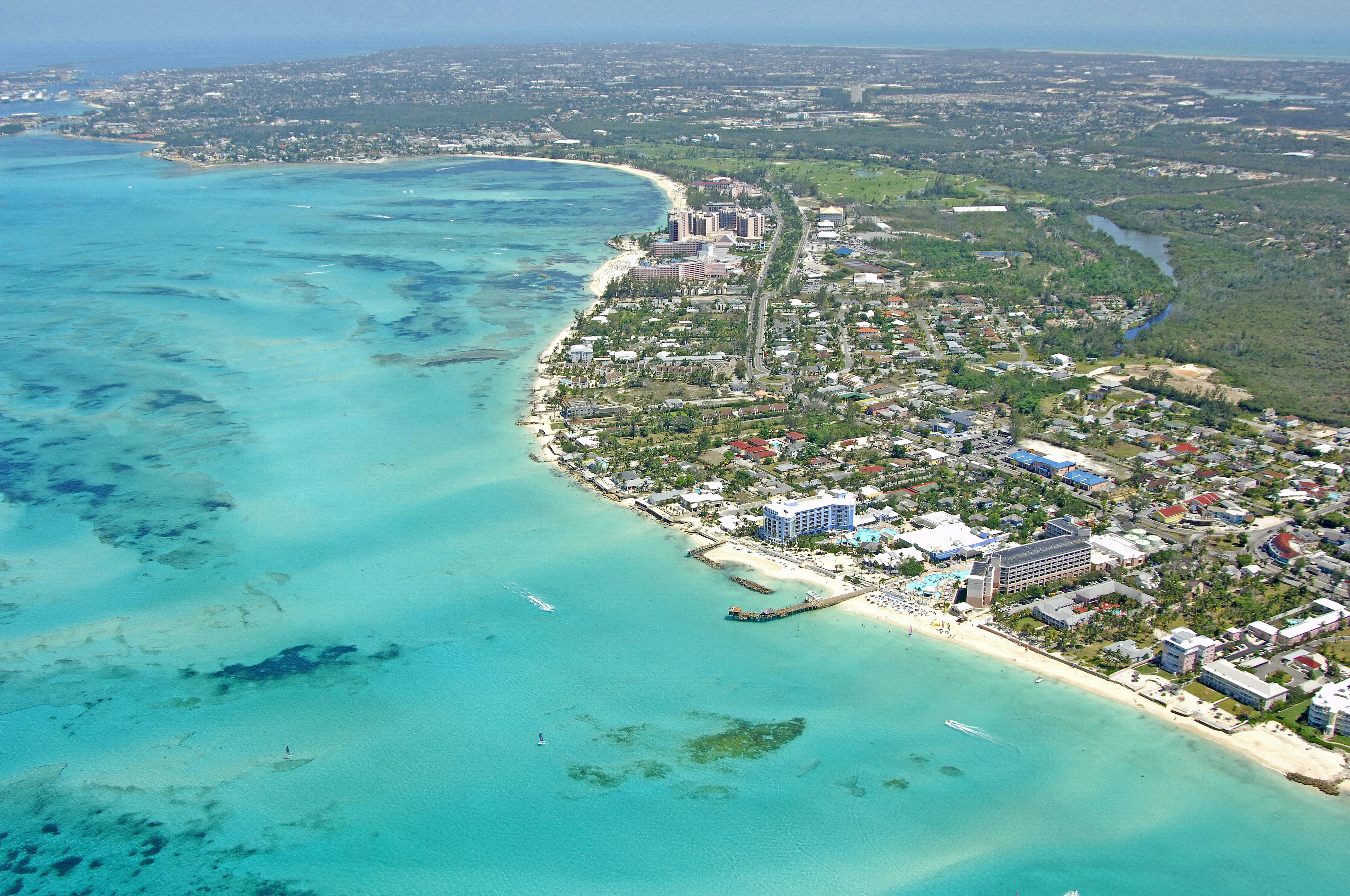 Cable Beach Harbor In Np Bahamas