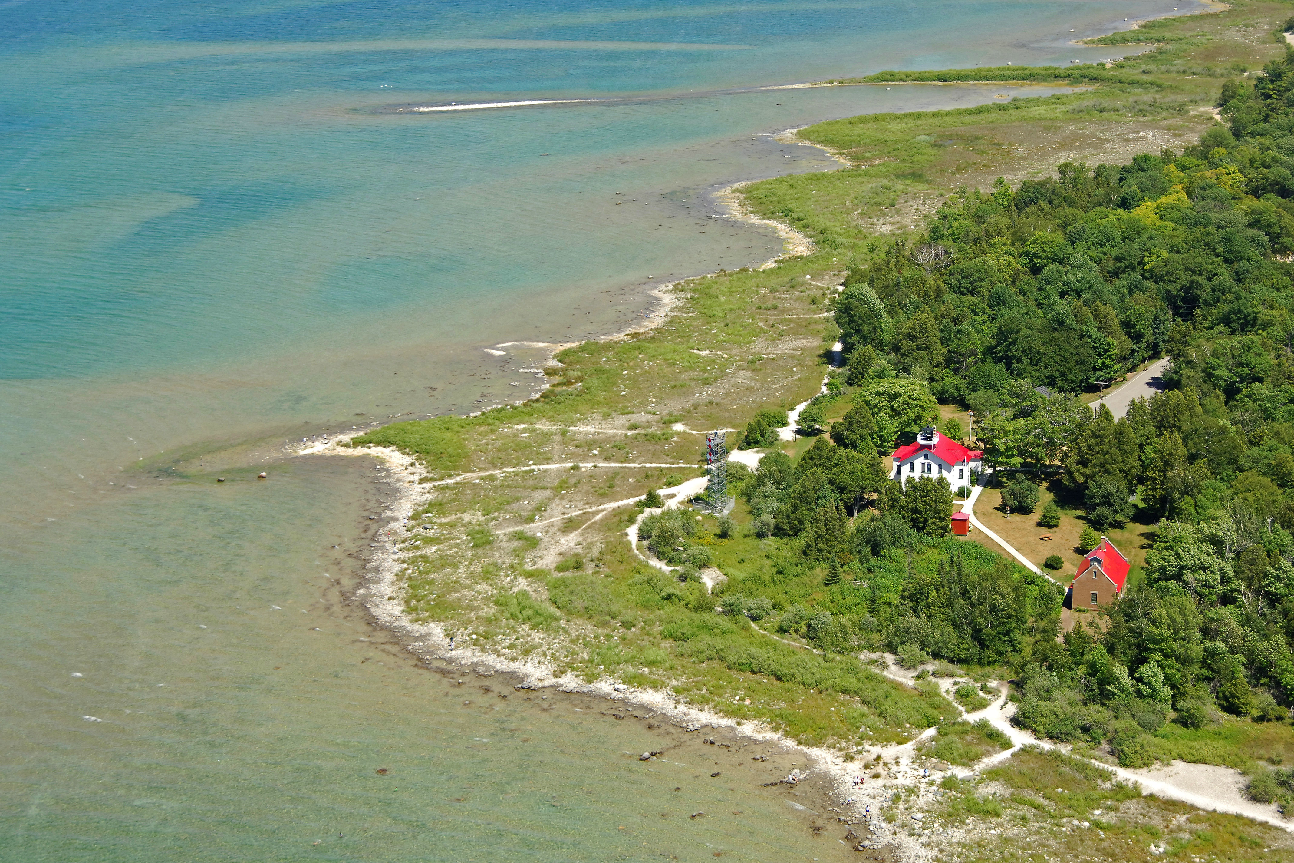 Grand Traverse Lighthouse In Northport Mi United States