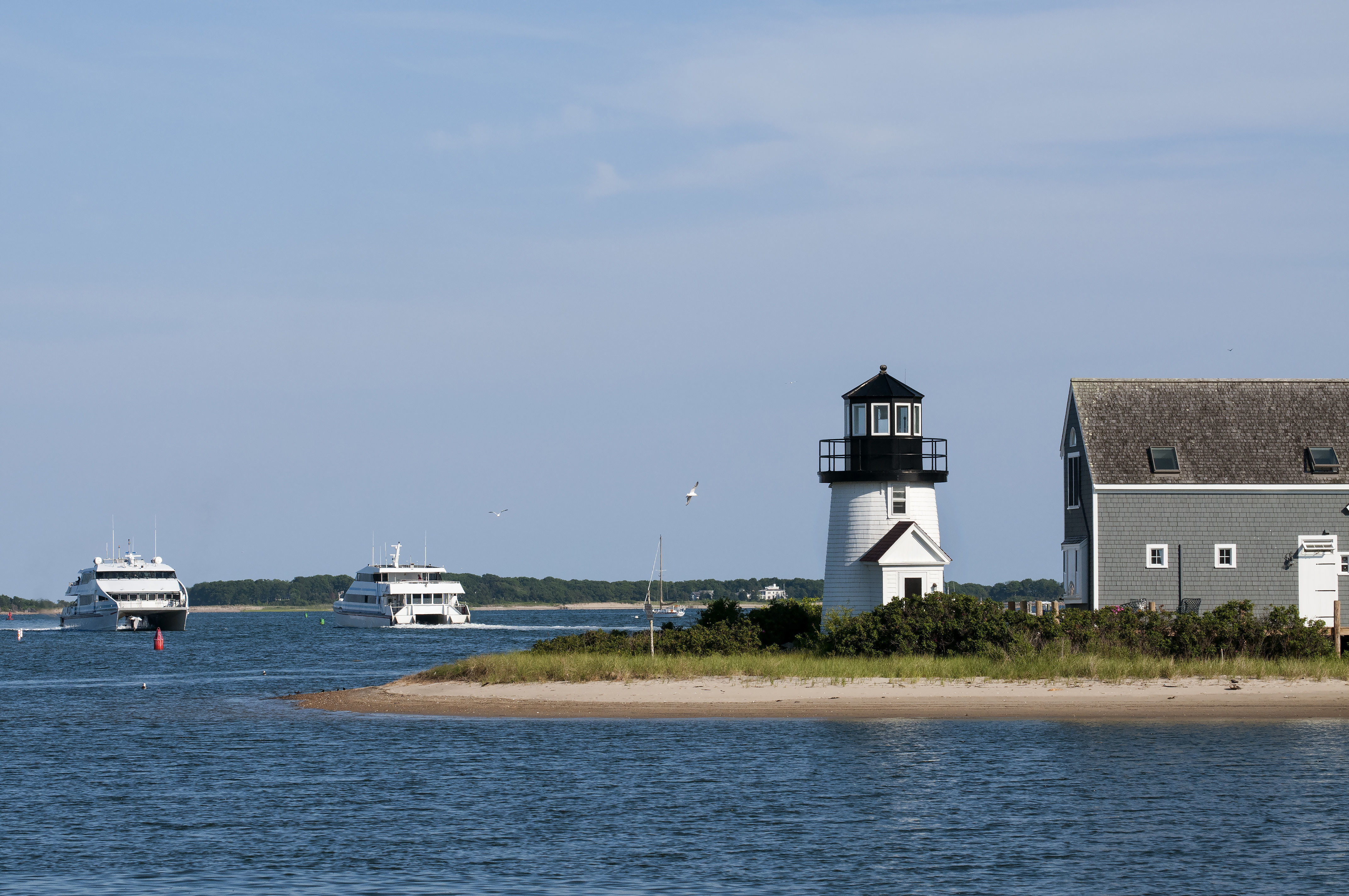 Hyannis Harbor in Hyannis, MA, United States - harbor