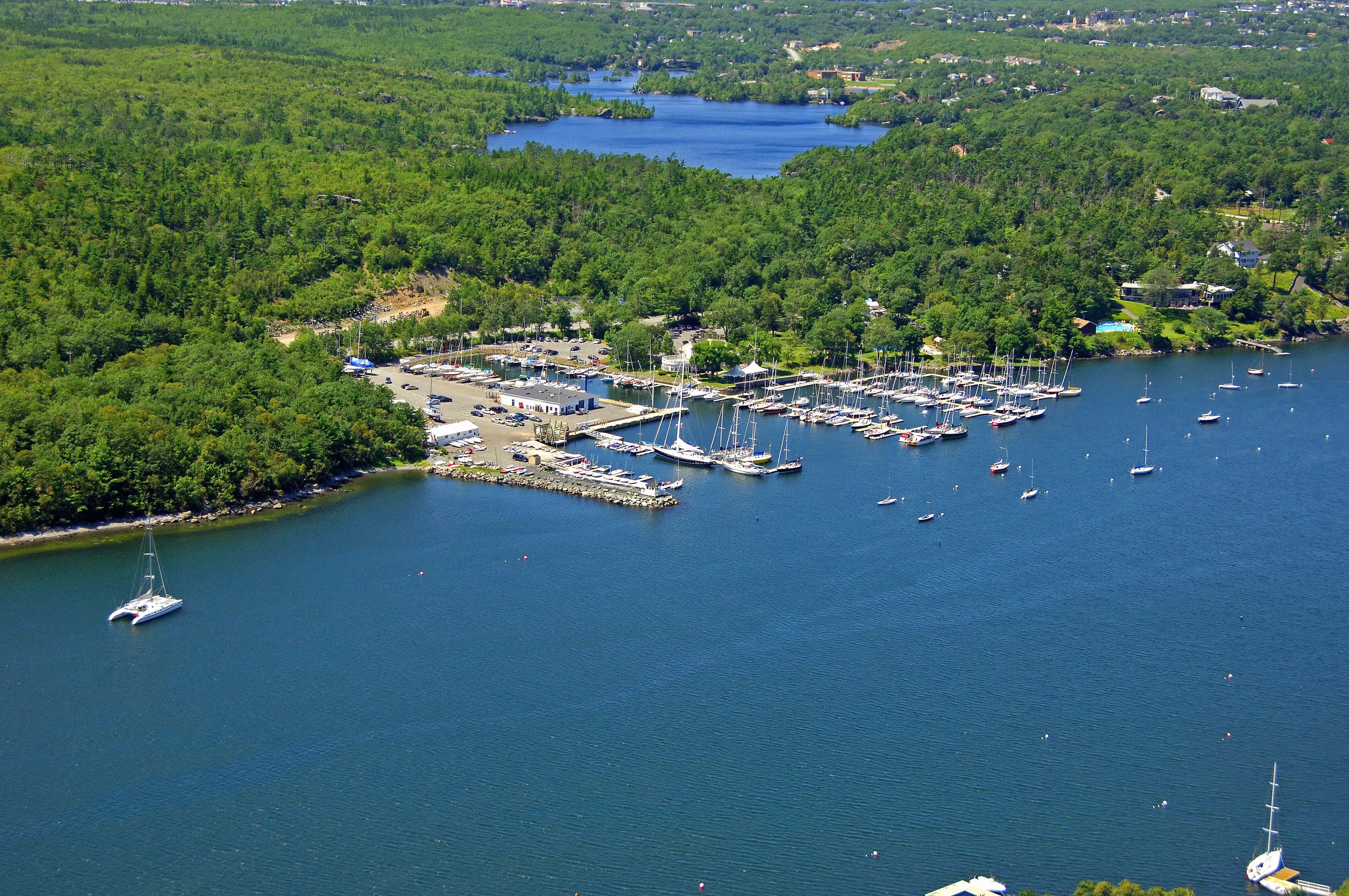 Royal Nova Scotia Yacht Squadron Marina in Halifax, NS, Canada