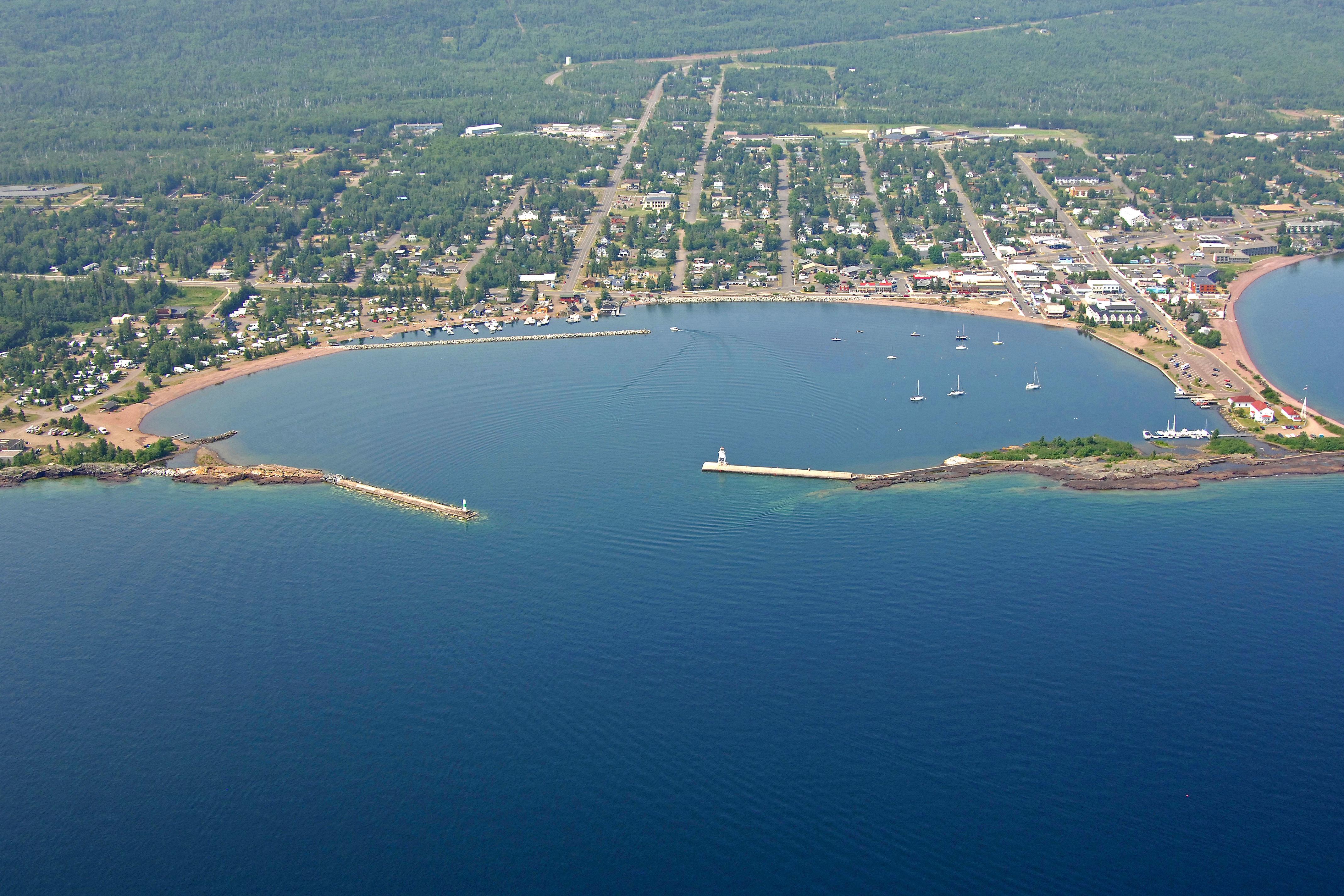 Grand Marais Harbor in Grand Marais, MN, United States