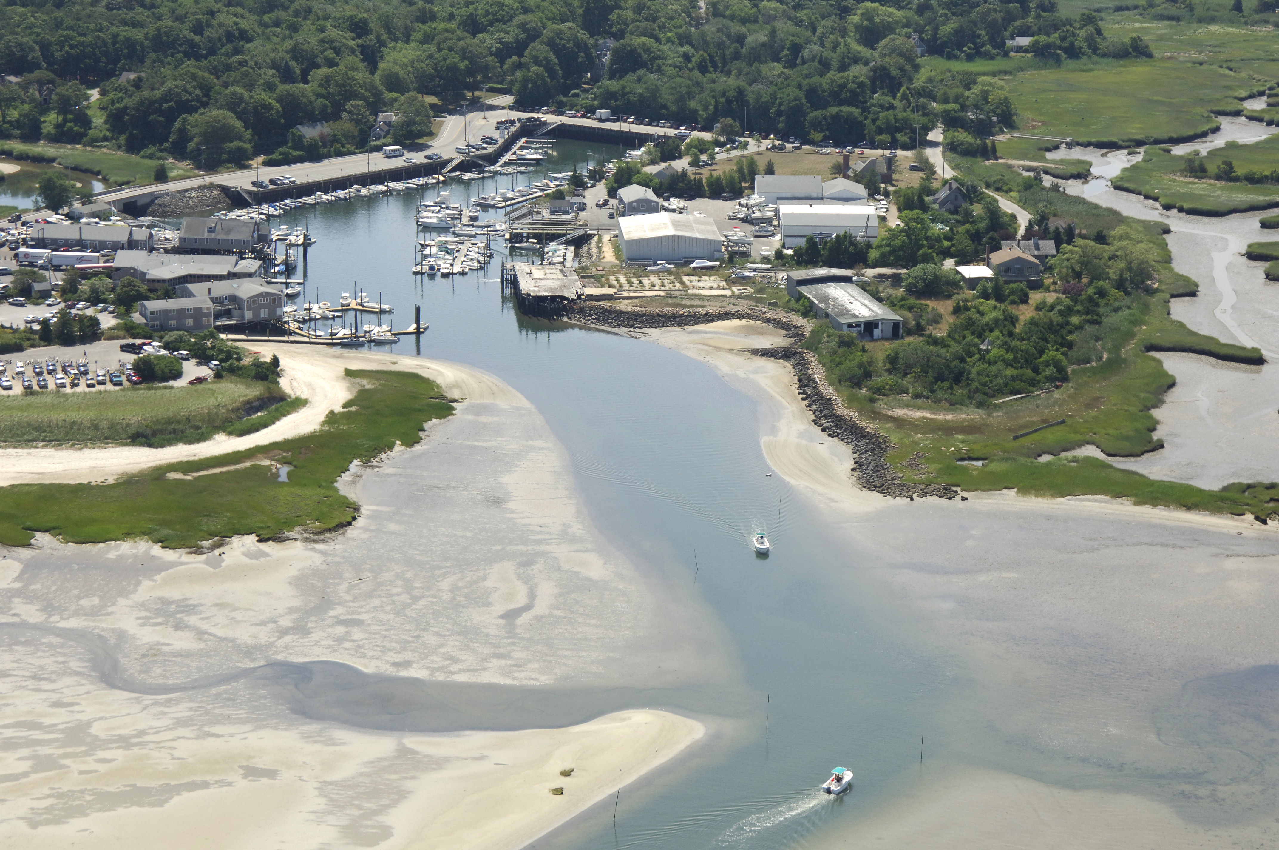 Barnstable Inner Harbor Inlet In Barnstable Ma United States