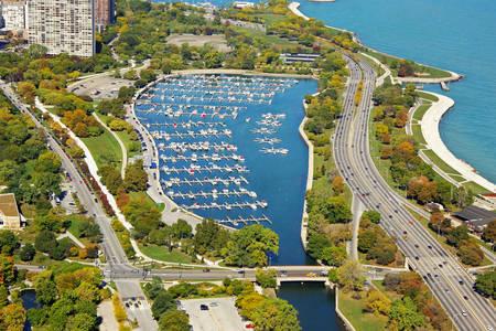 Diversey Harbor Lagoon, the Chicago Harbors