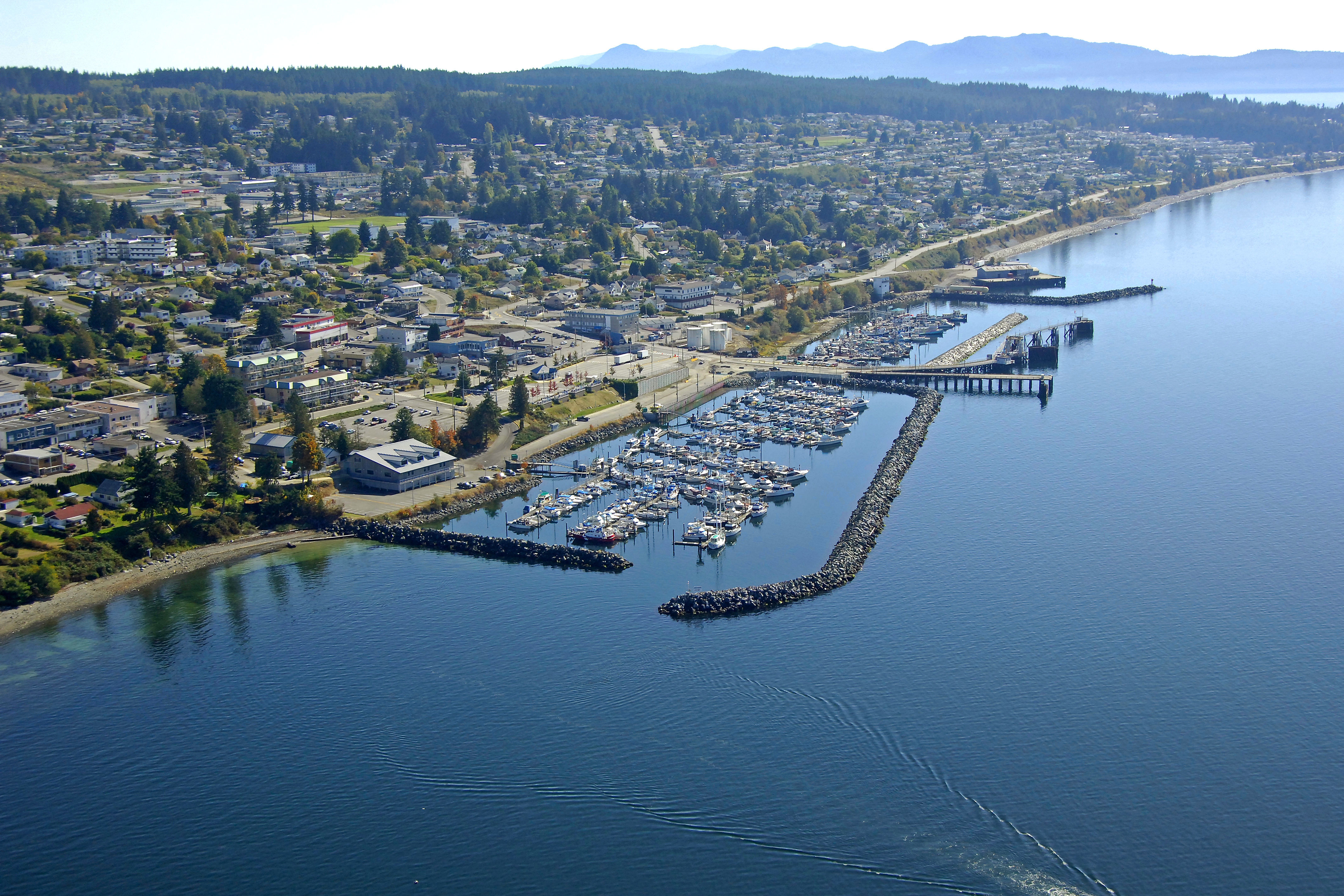 Powell River Westview Harbour in Powell River, BC, Canada