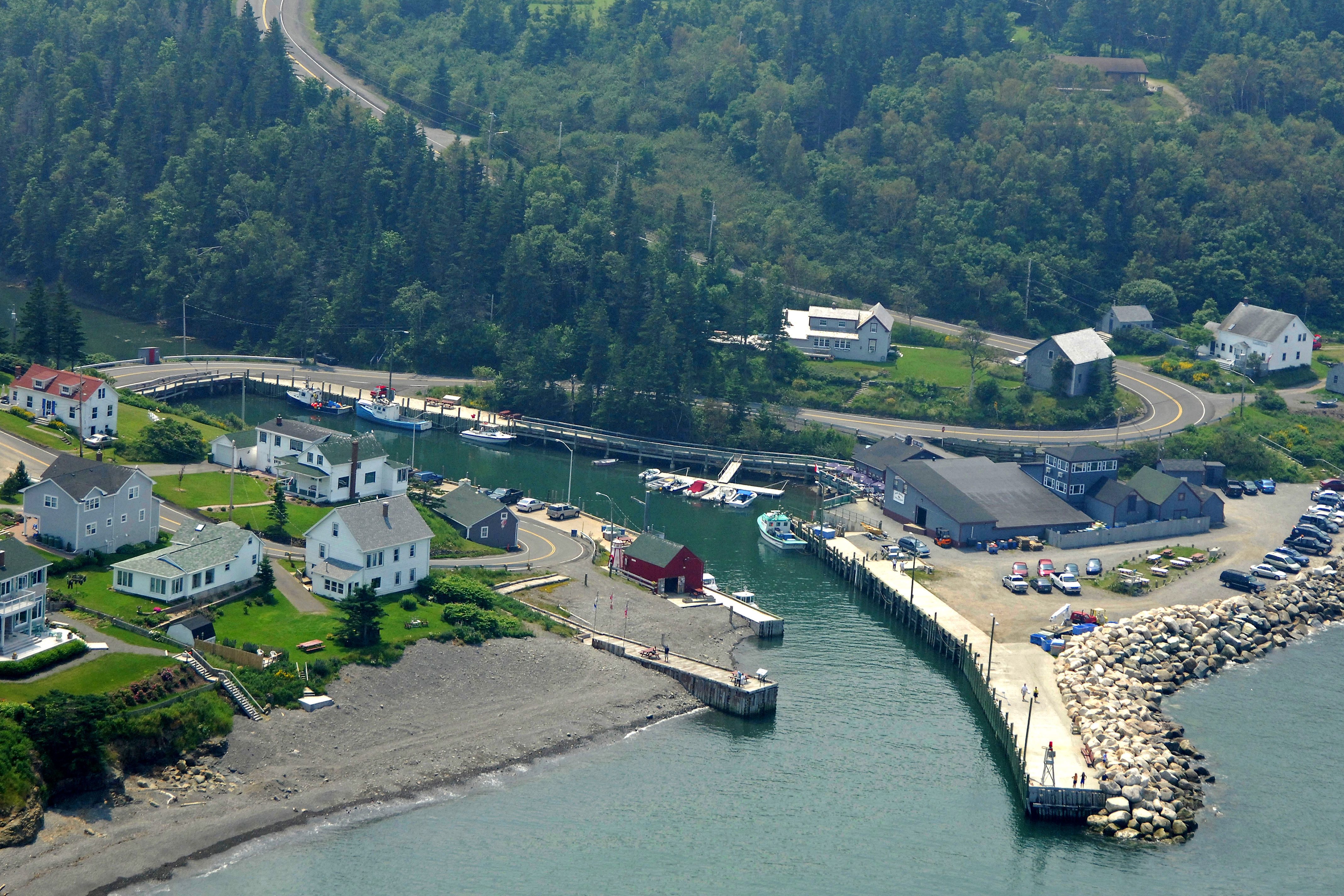 halls harbour in kentville  ns  canada