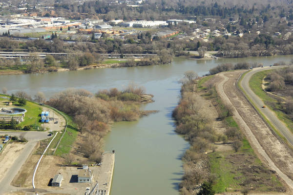 Sacramento River Barge Canal Inlet