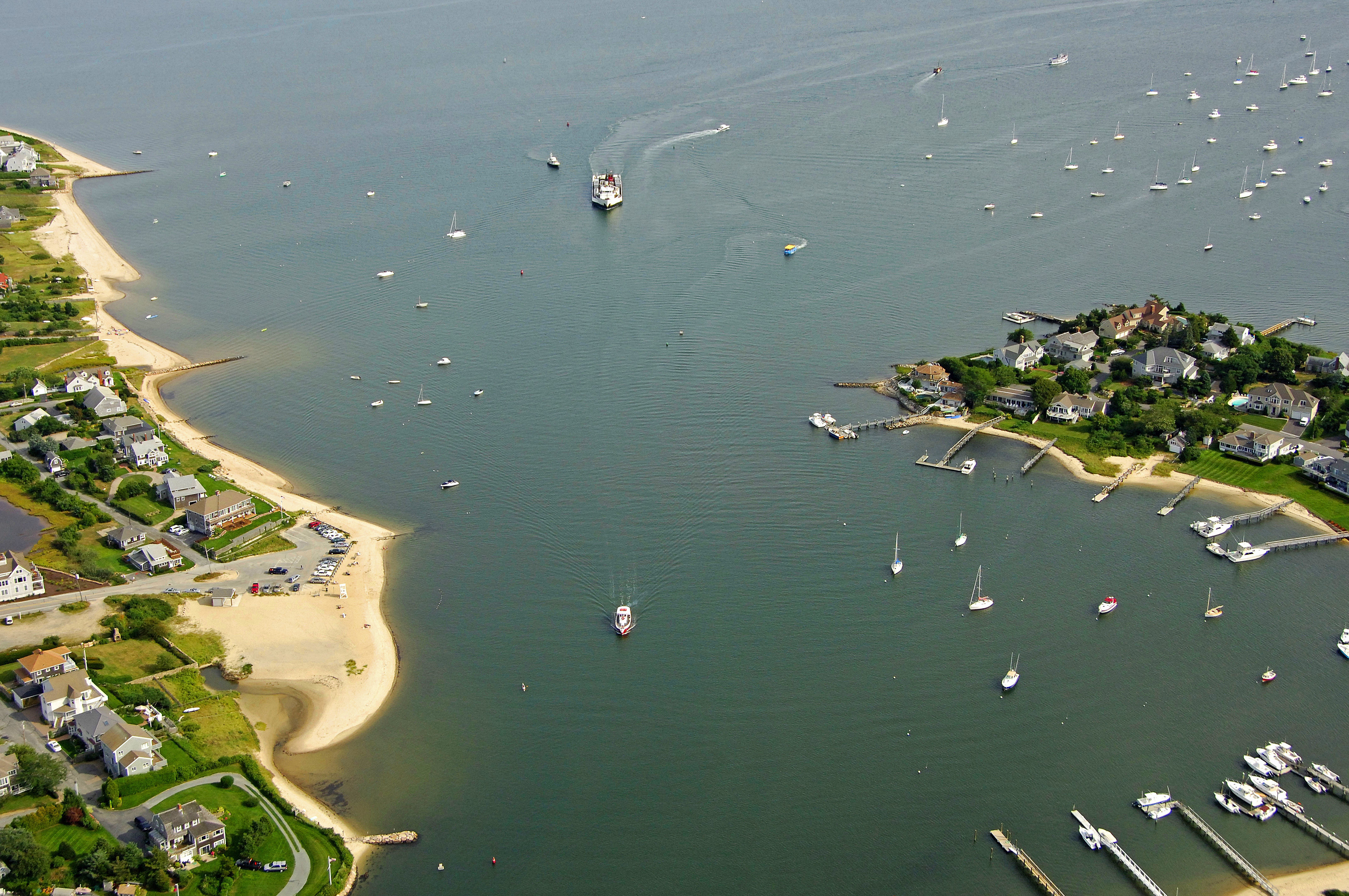 Hyannis Town Harbor Inlet In Hyannis Ma United States Inlet
