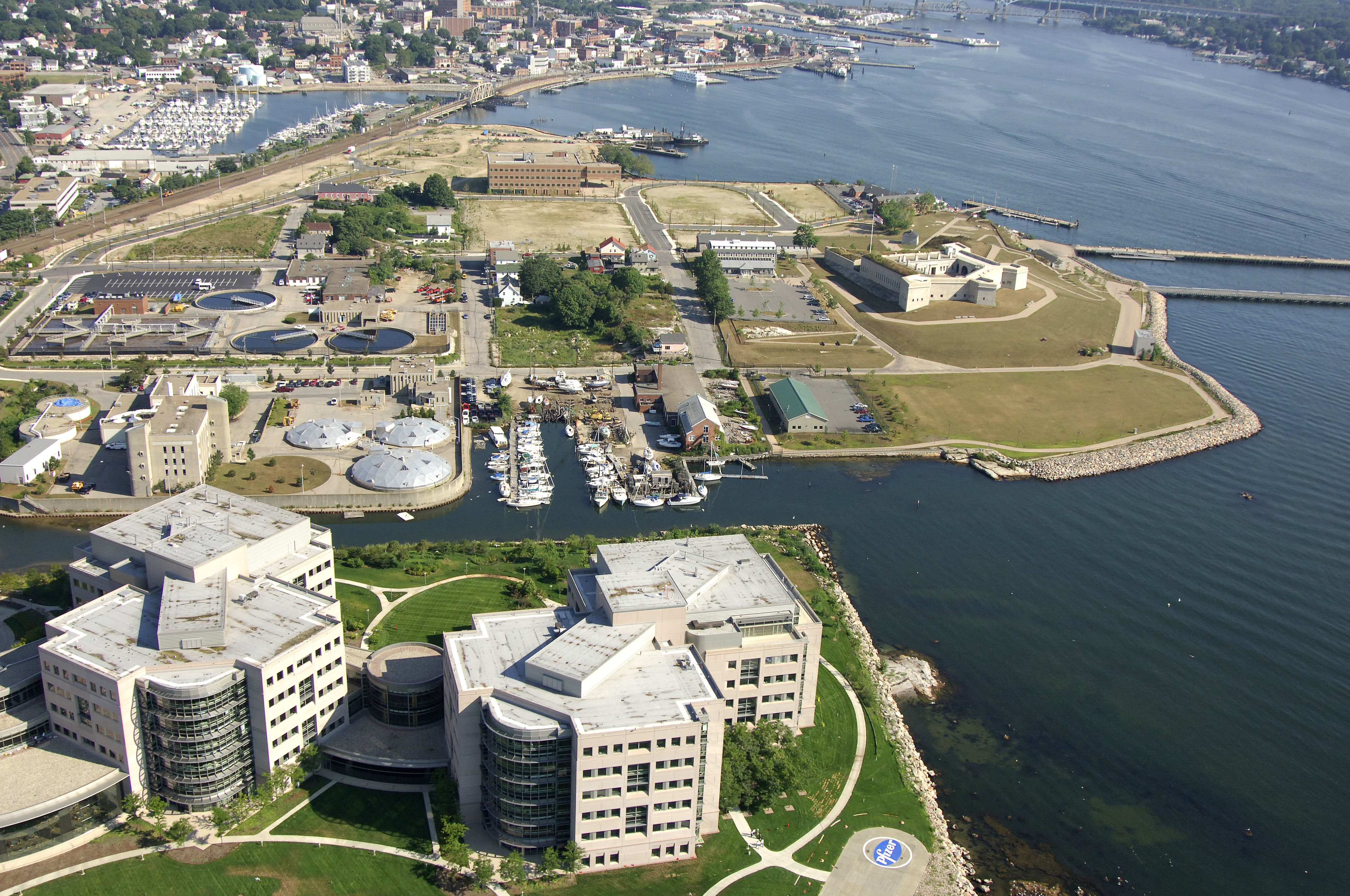 Fort Trumbull Marina In New London Ct United States