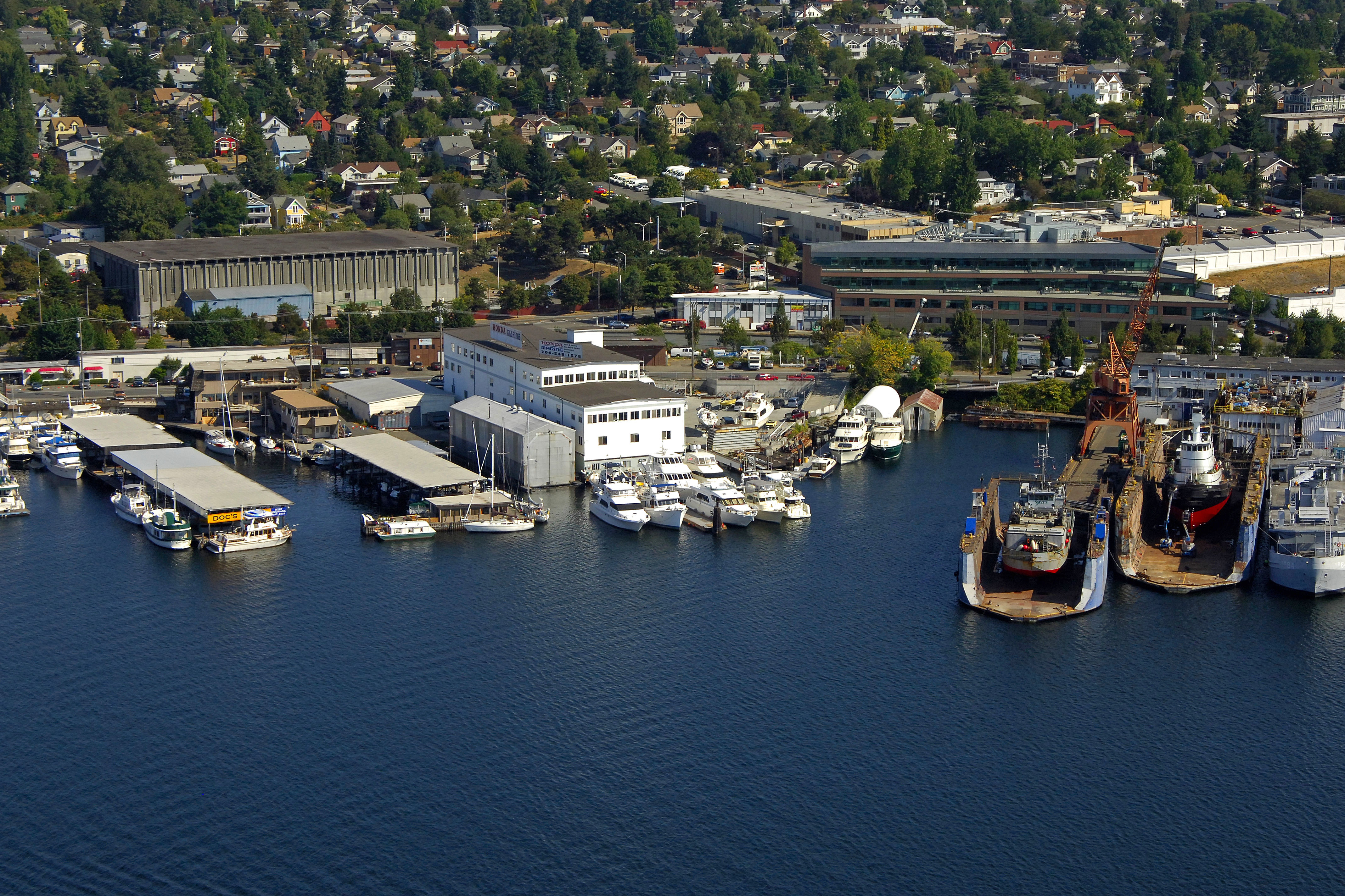 Lake Union Yacht Center In Seattle Wa United States