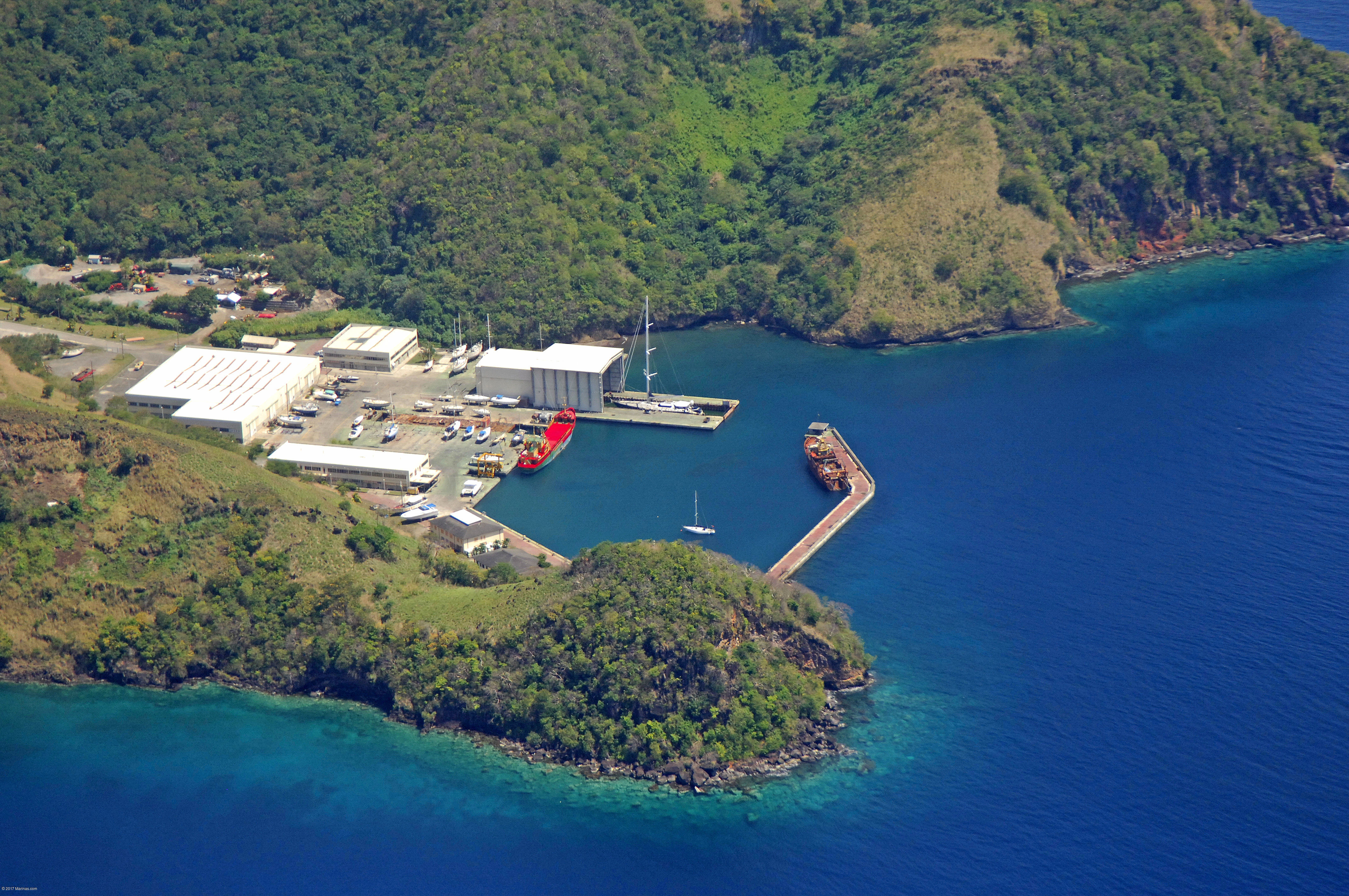 Ottley Hall Marina & Shipyard in Kingstown, St. Vincent and the Grenadine...