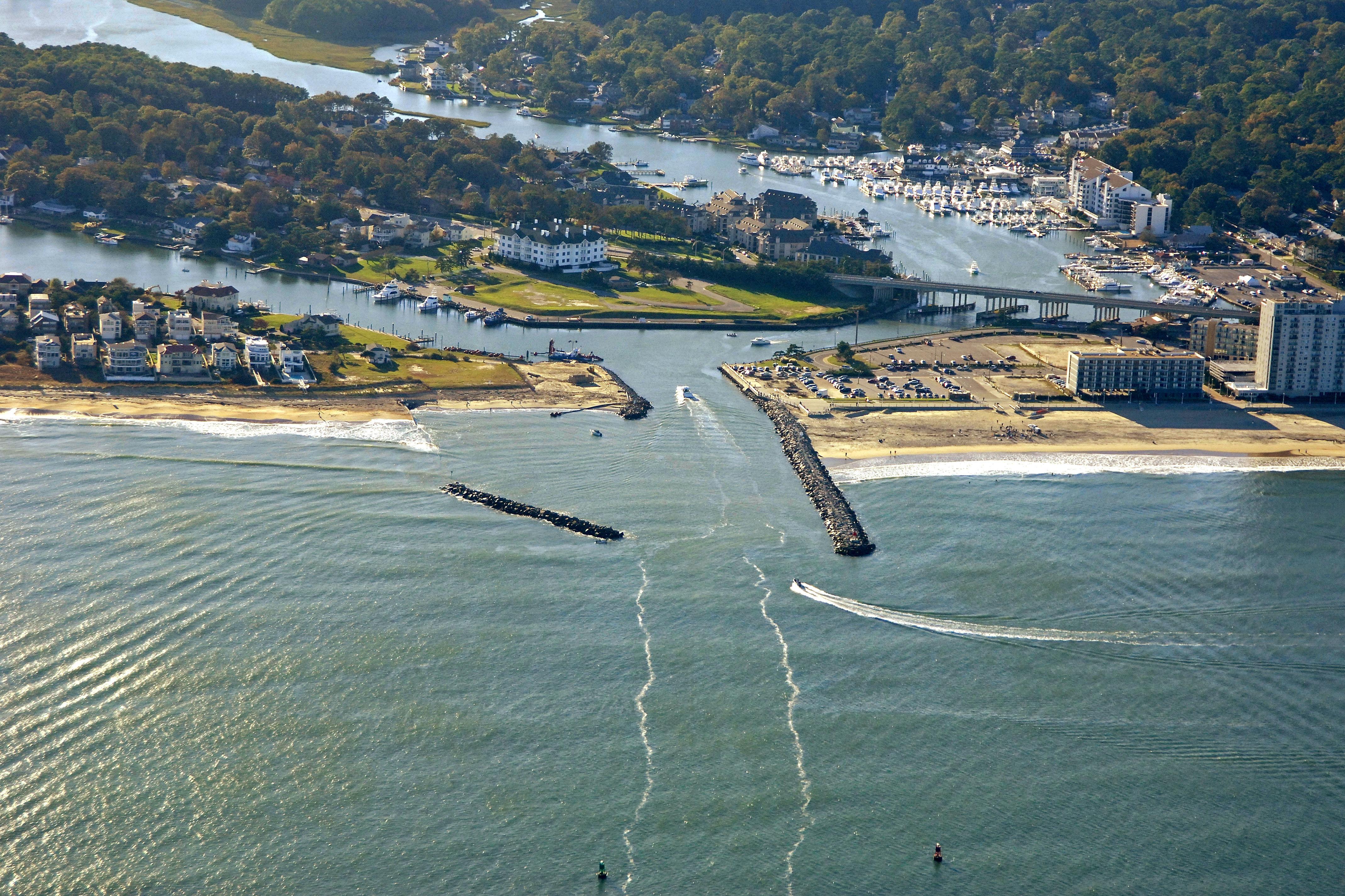 Lake rudee harbor in lake view va united states harbor for Rudee inlet fishing