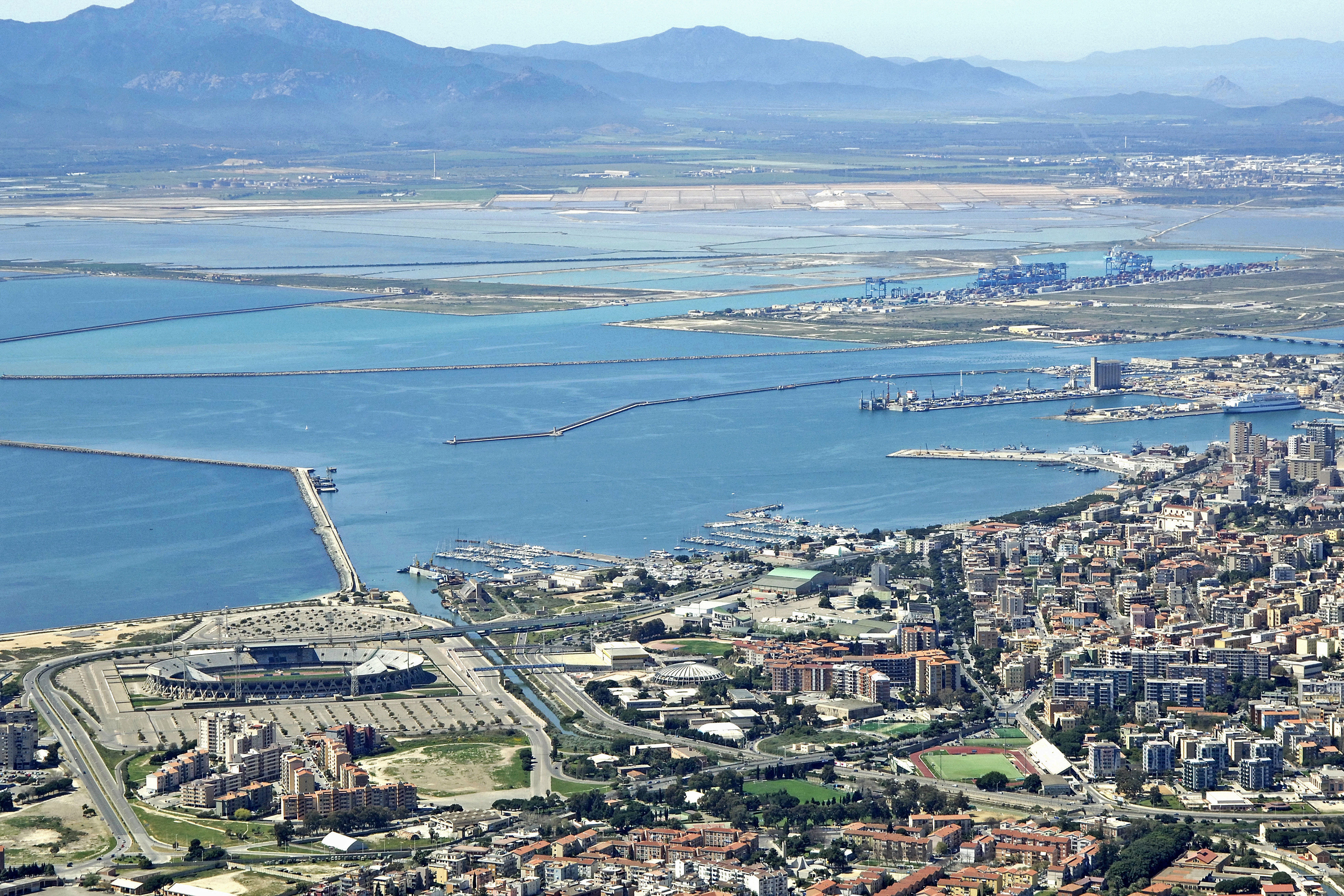 Cagliari Harbor in Cagliari, Sardinia, Italy - harbor Reviews ...