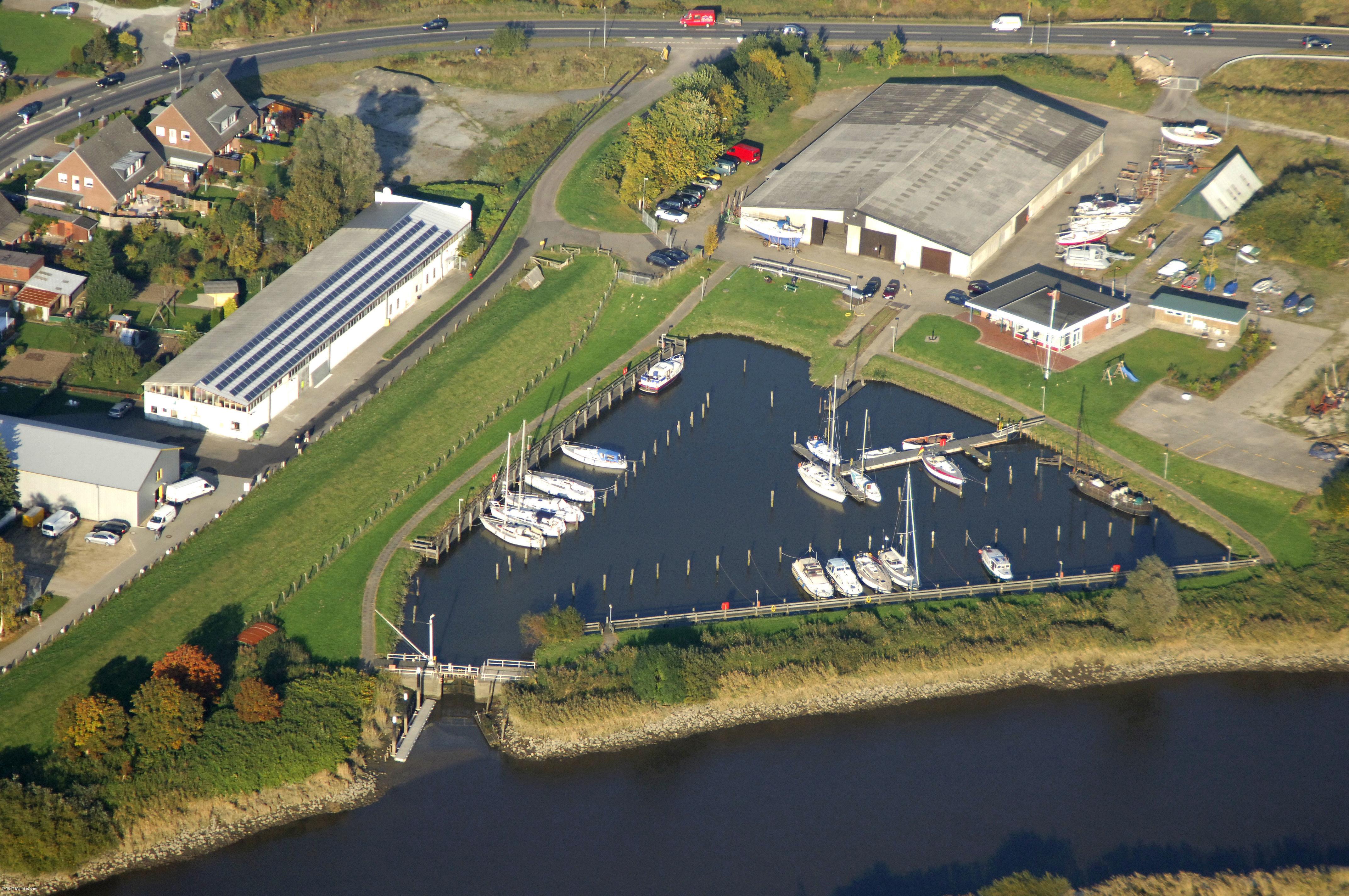 Heiligenstedten Boatyard In Heiligenstedten Schleswig Holstein