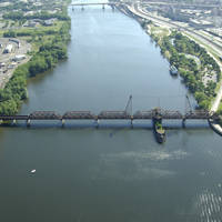 Hudson River CSX Railroad Swing Bridge